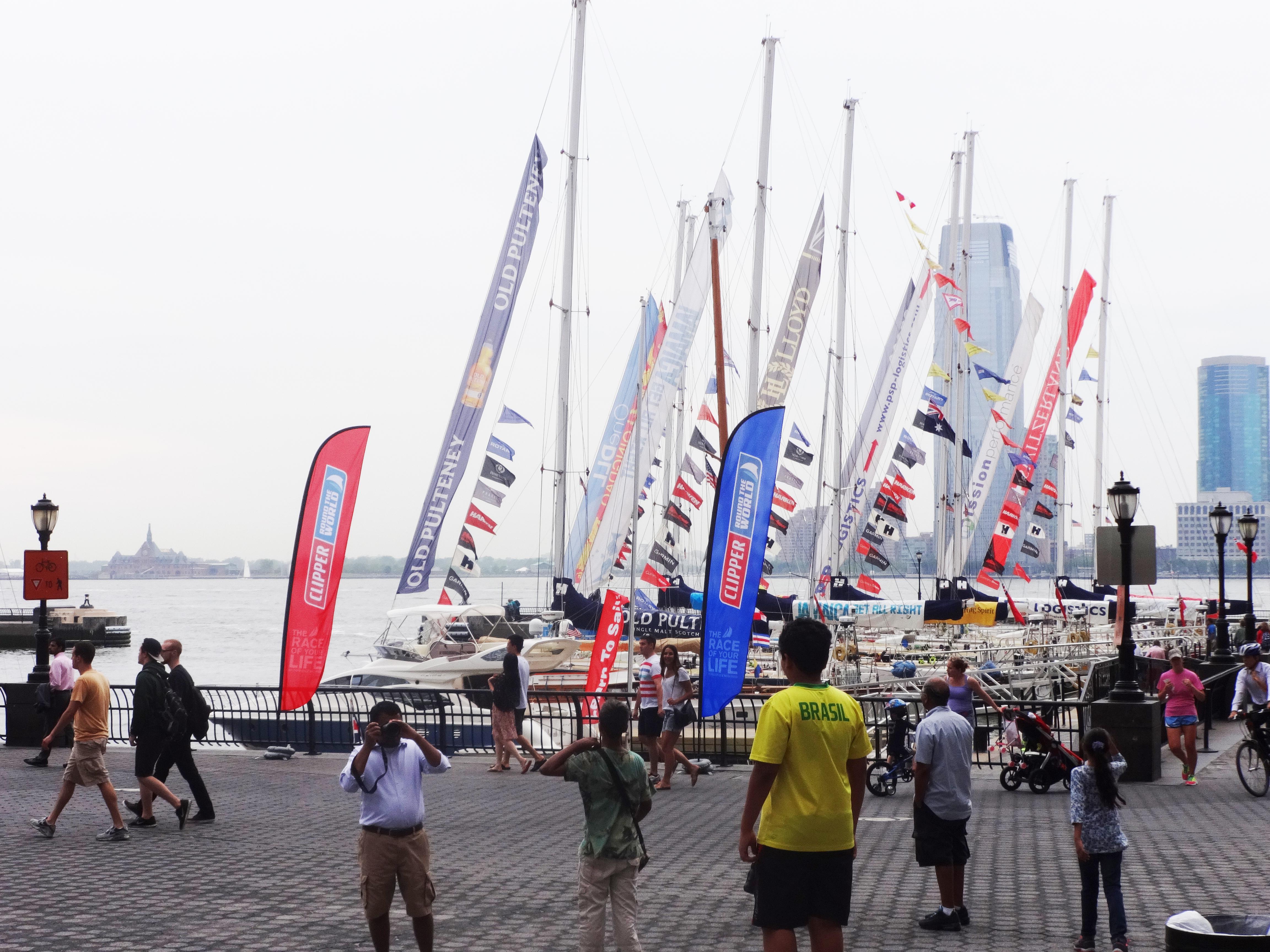 Racing sailboats in North Cove Marina
