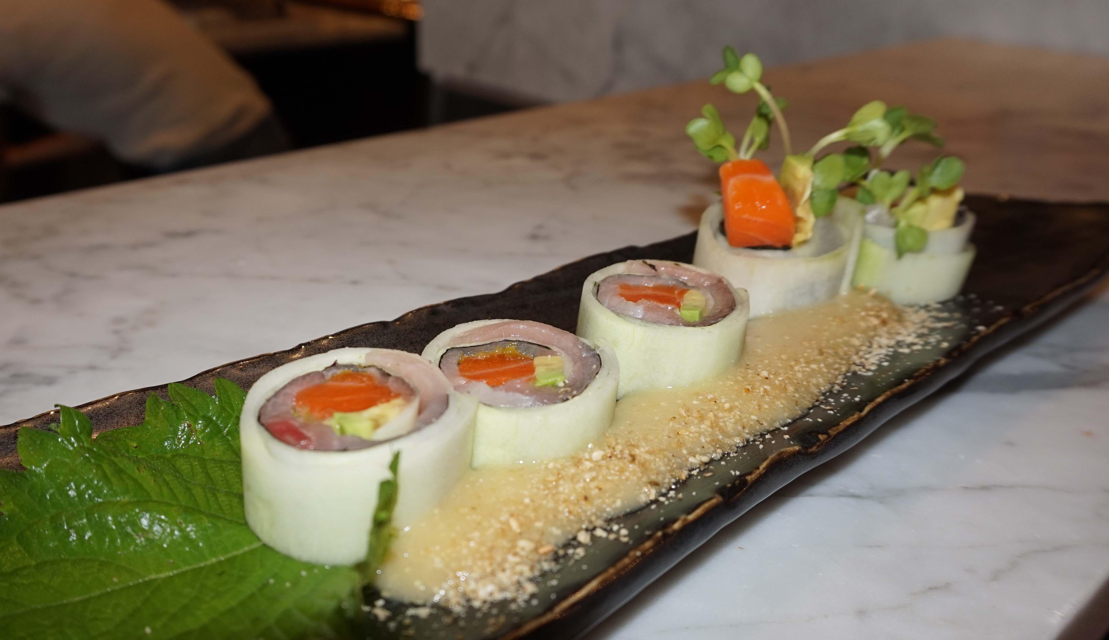 Blue Ribbon Sushi cucumber sushi