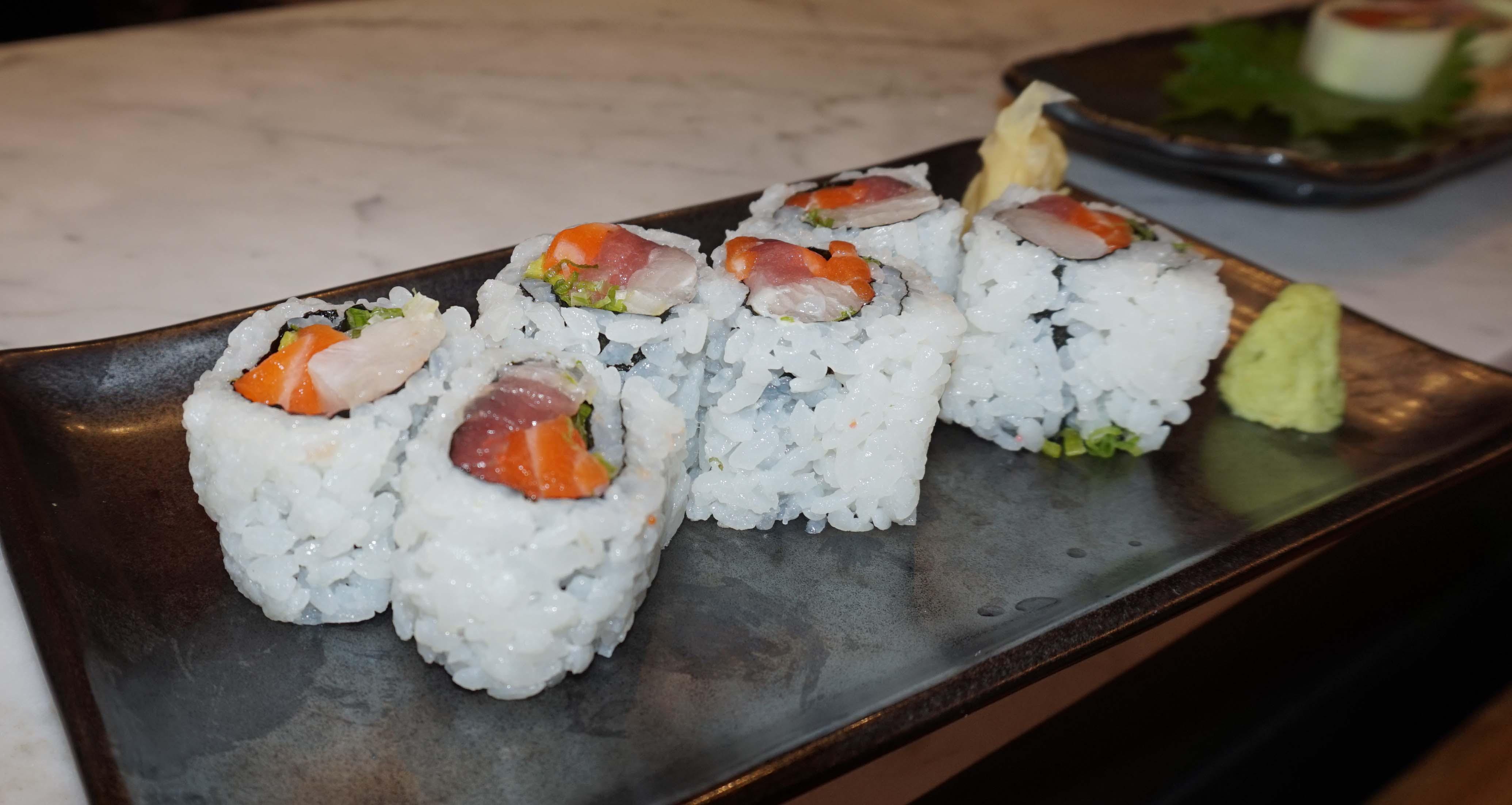 Blue Ribbon Sushi salmon tuna roll