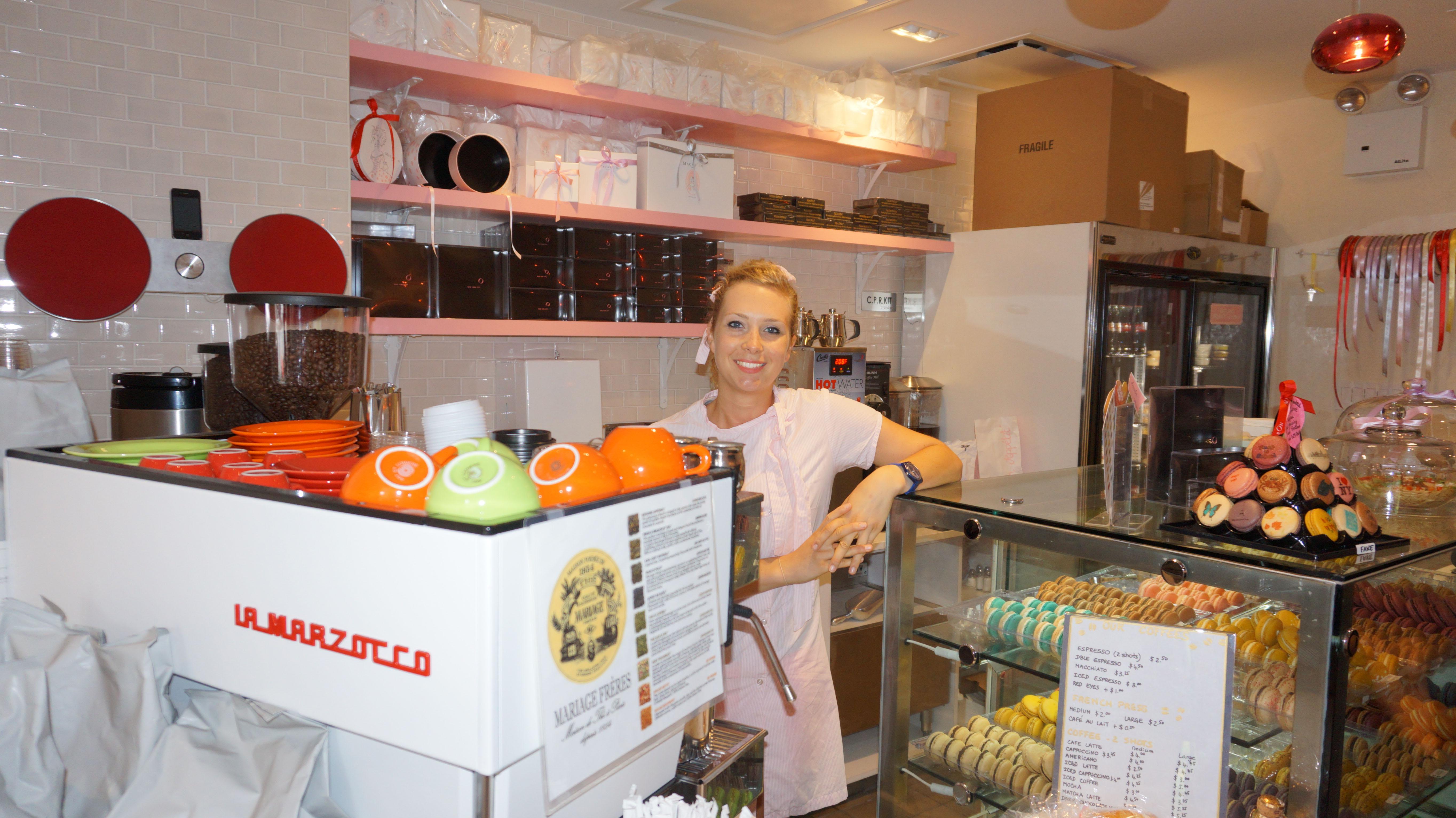 Macaron Cafe lady