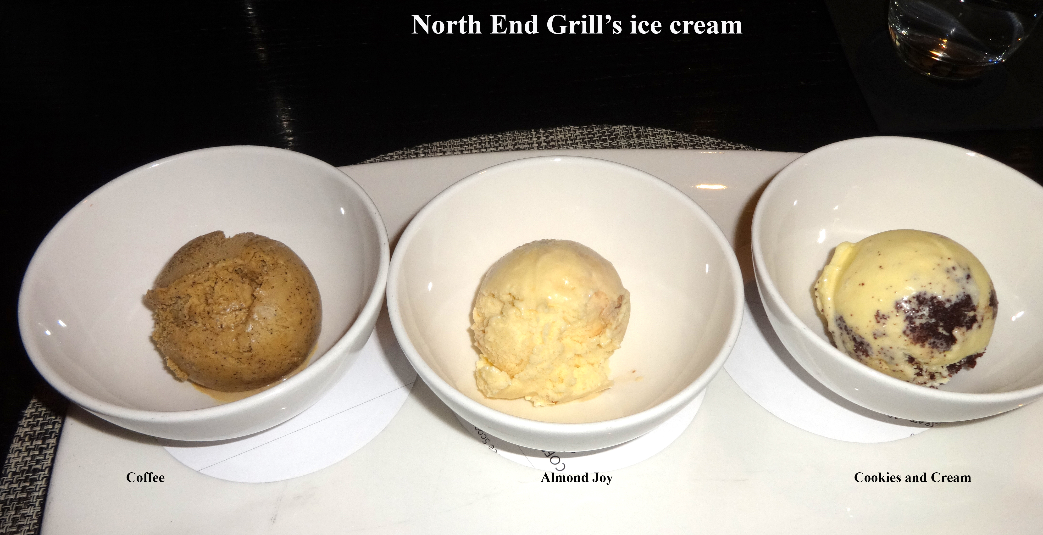 North End Grill ice cream