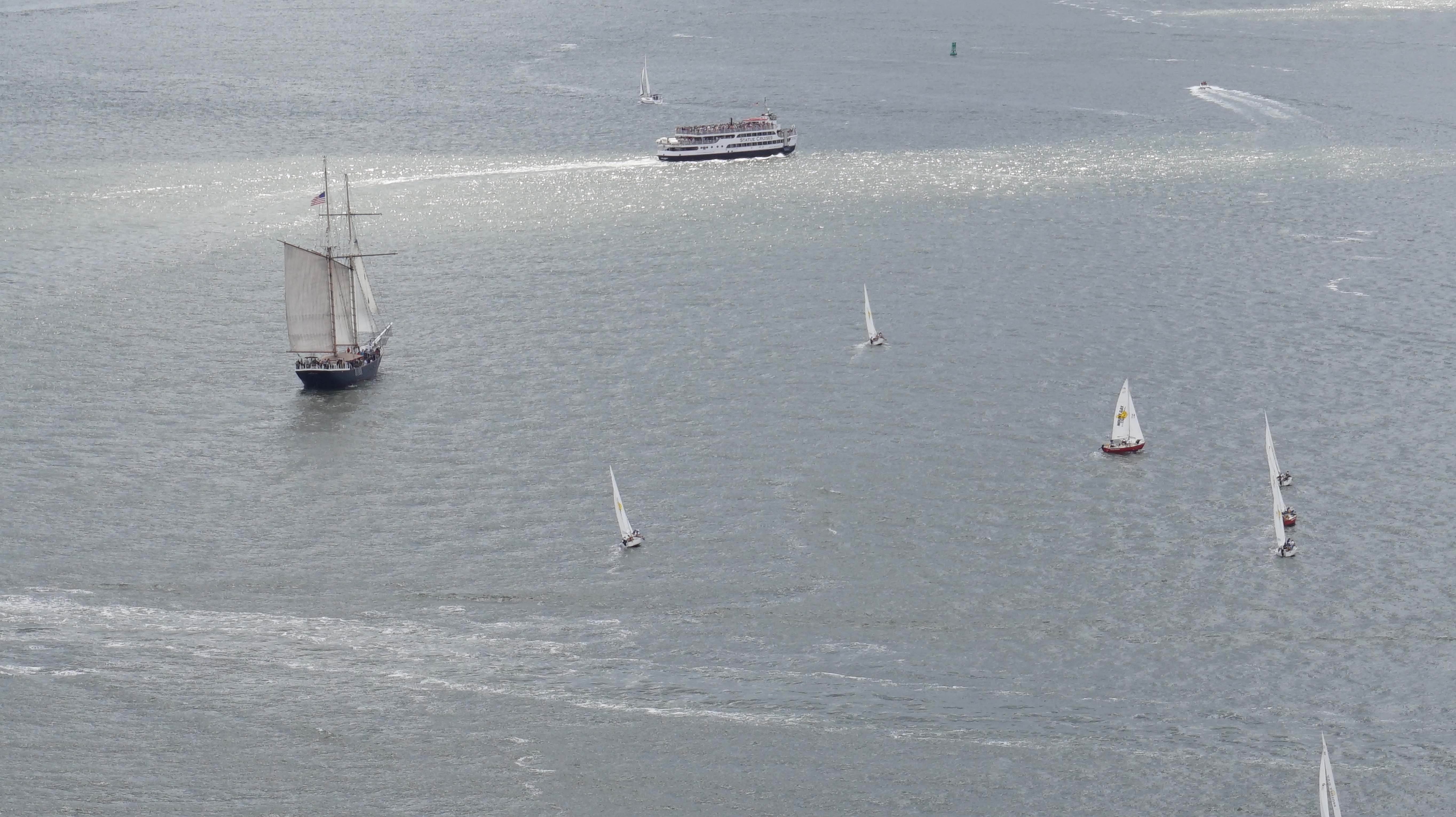 Boat races in Harbor 8-15-2014