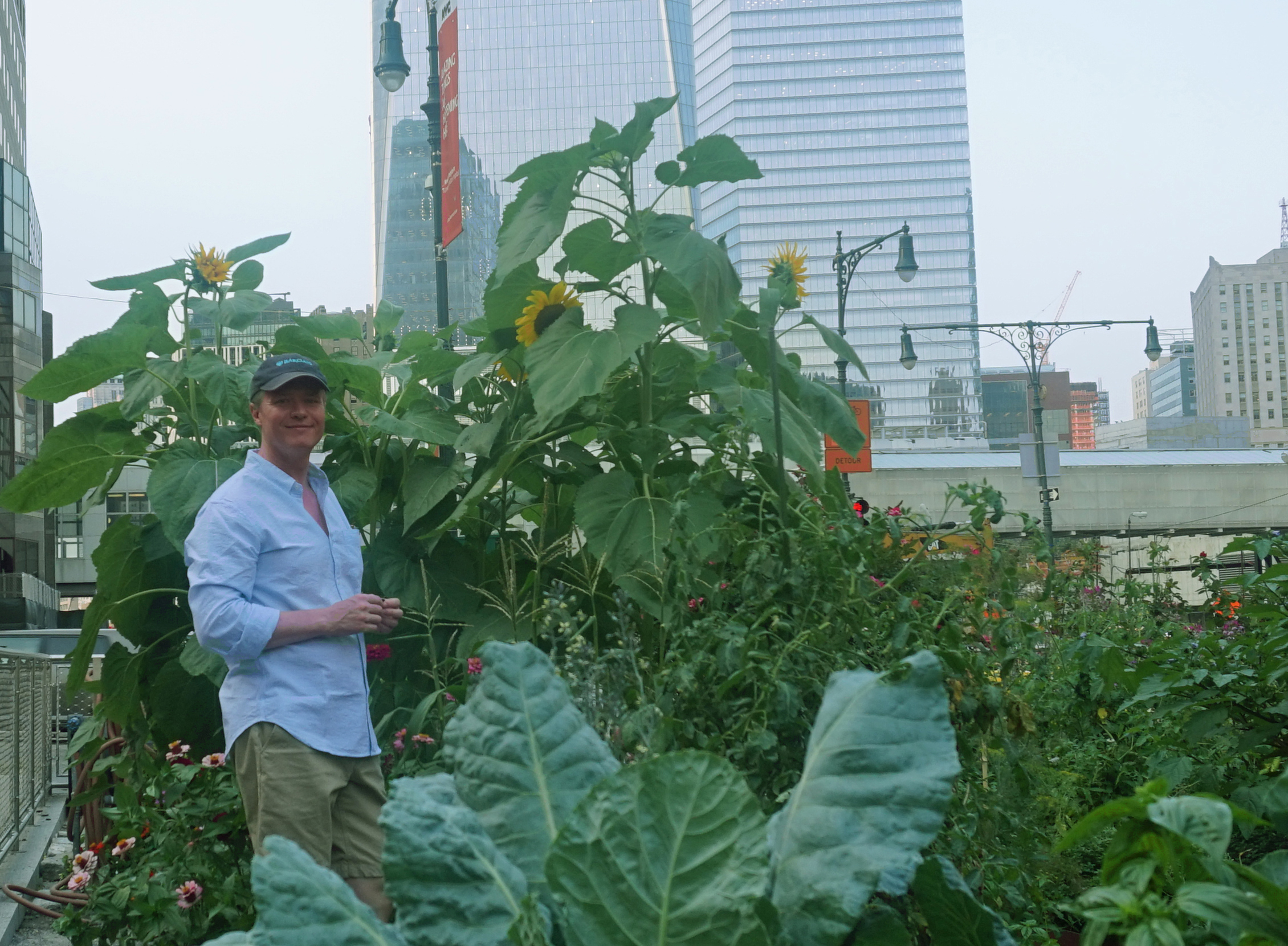 Me in front of sunflowers 8-5-2014
