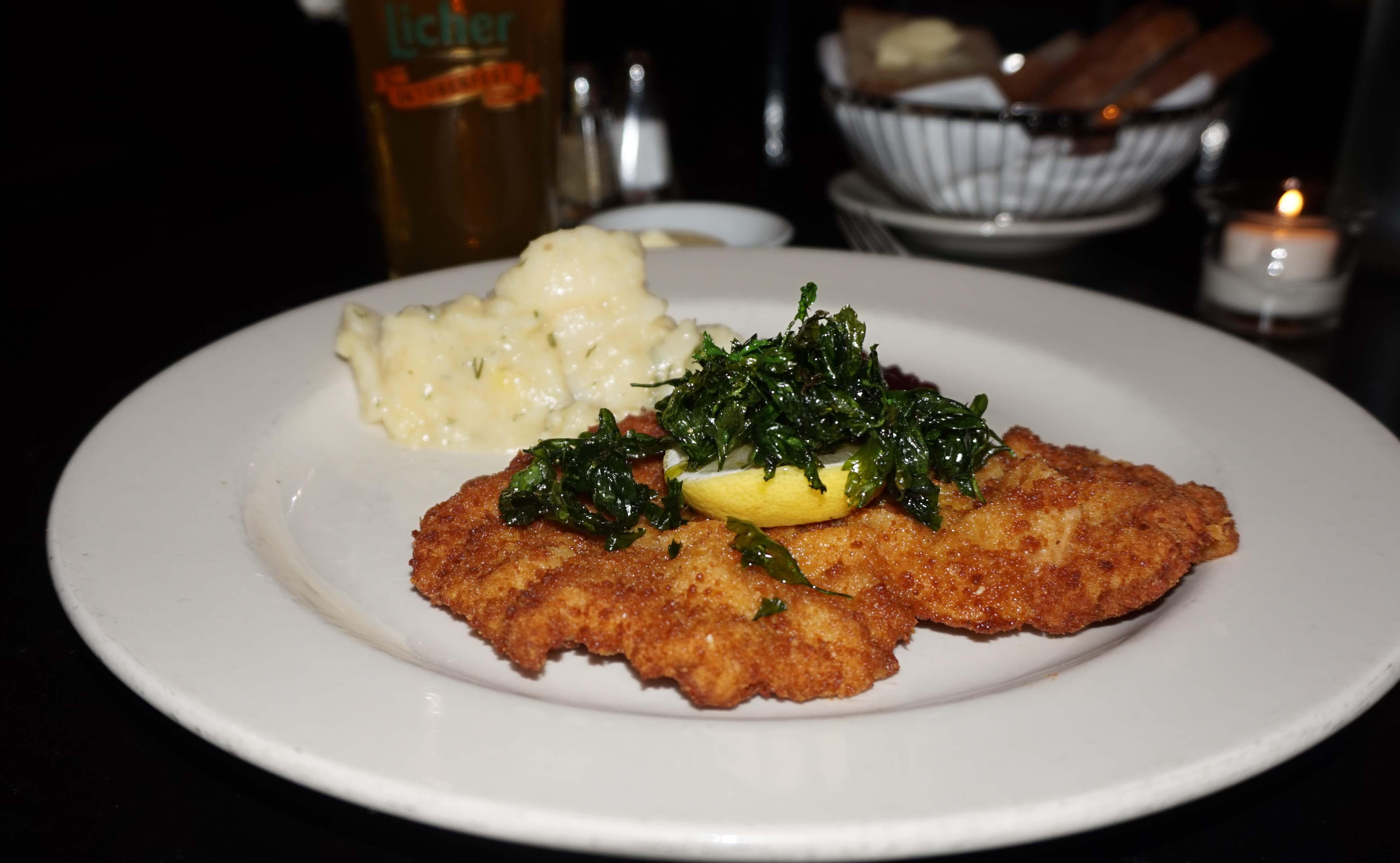 Bluea Gans pork schnitzel low