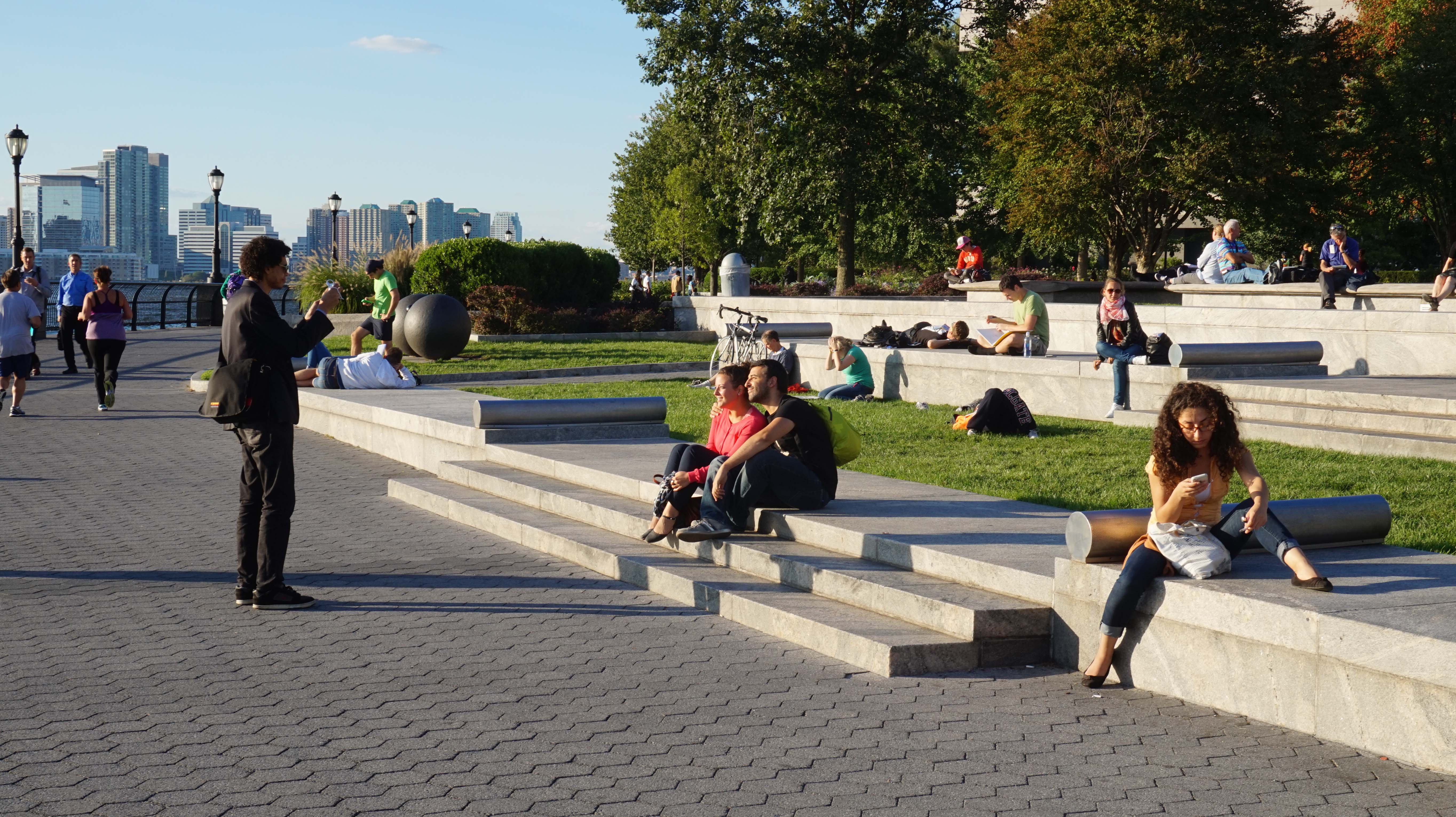 Getting photo staken on Wagner Park water 9-17-2014