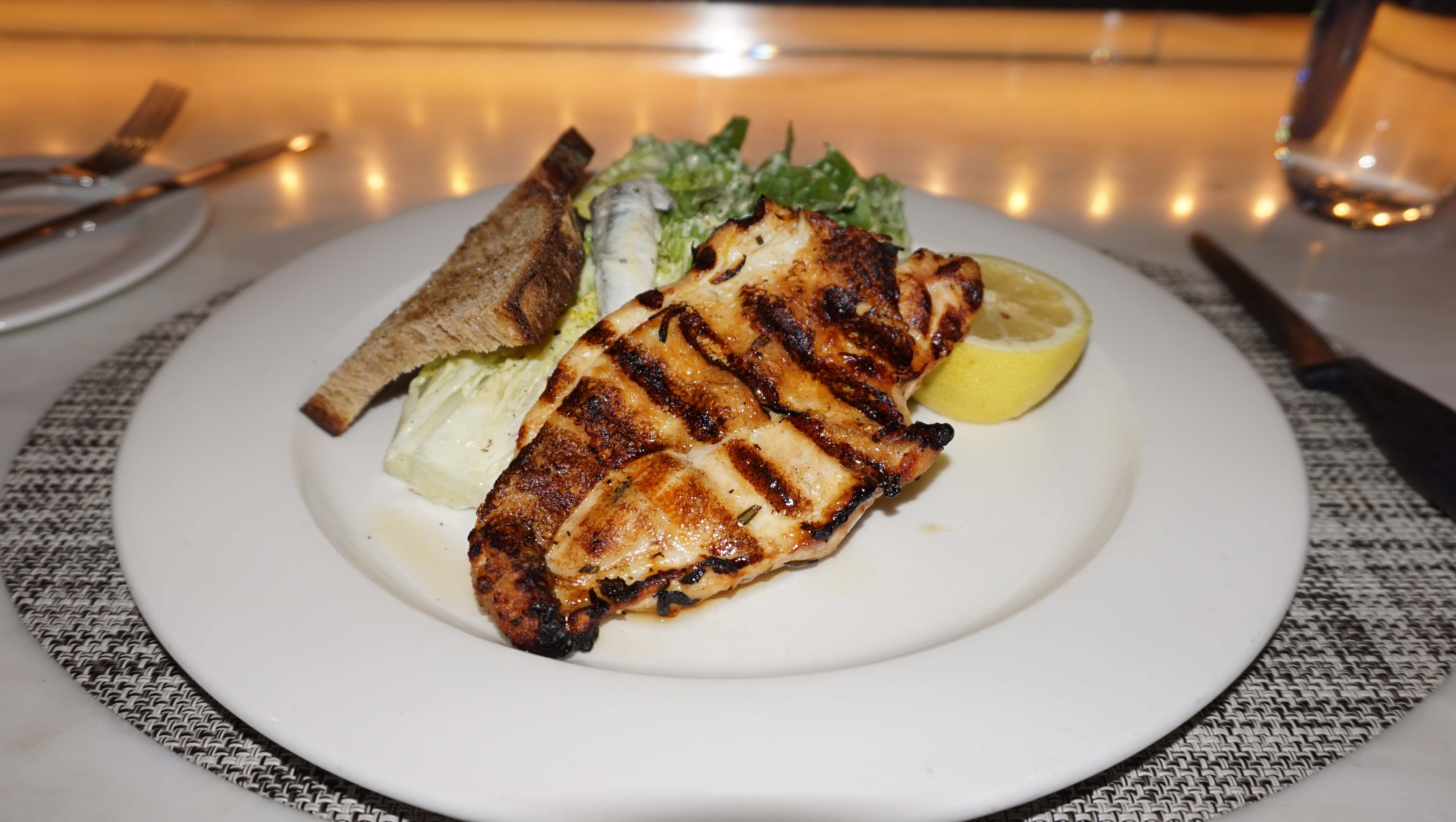 North End Grill Ceasers salad chicken low