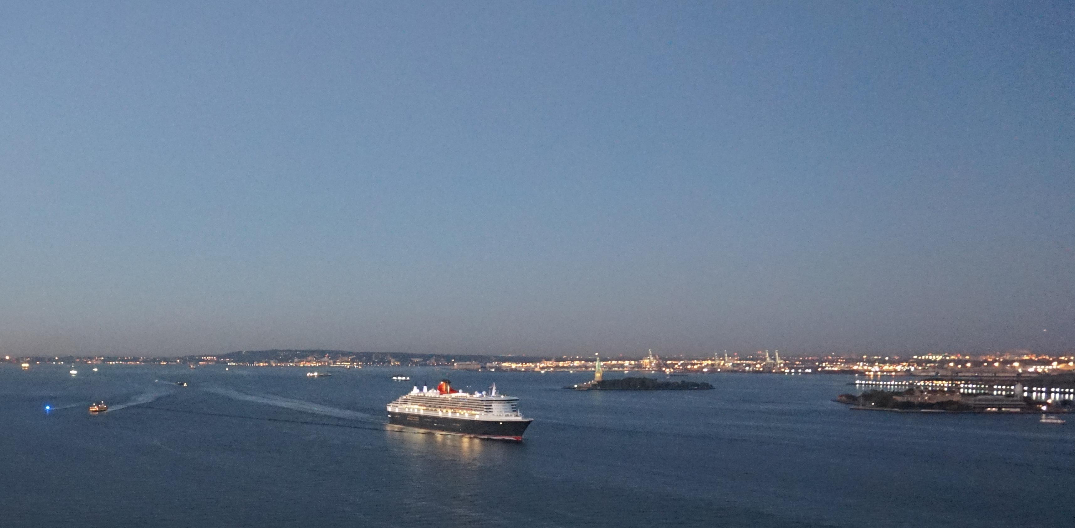 Queen Mary in port