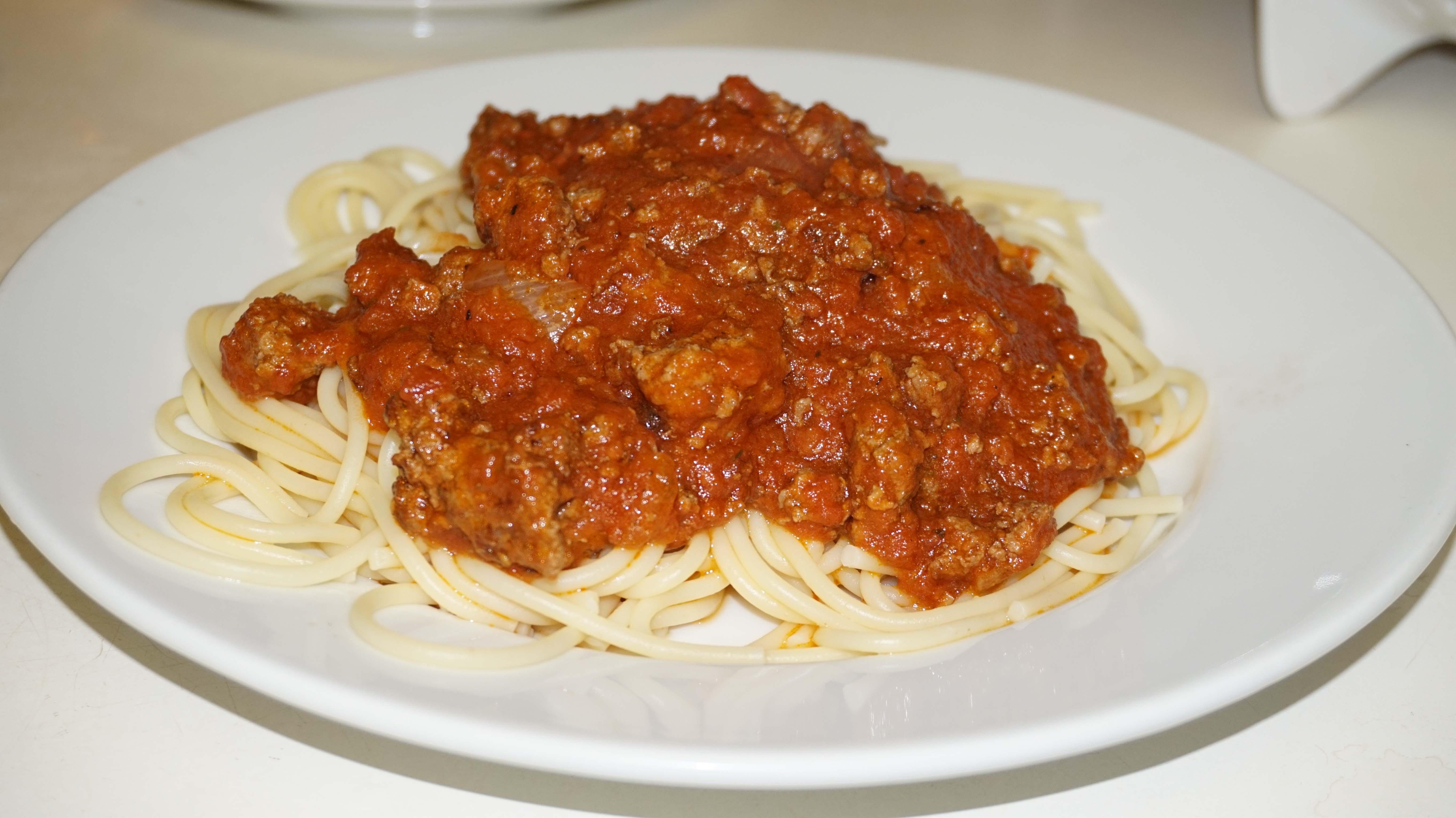 Uncel Steve sauce on pasta low