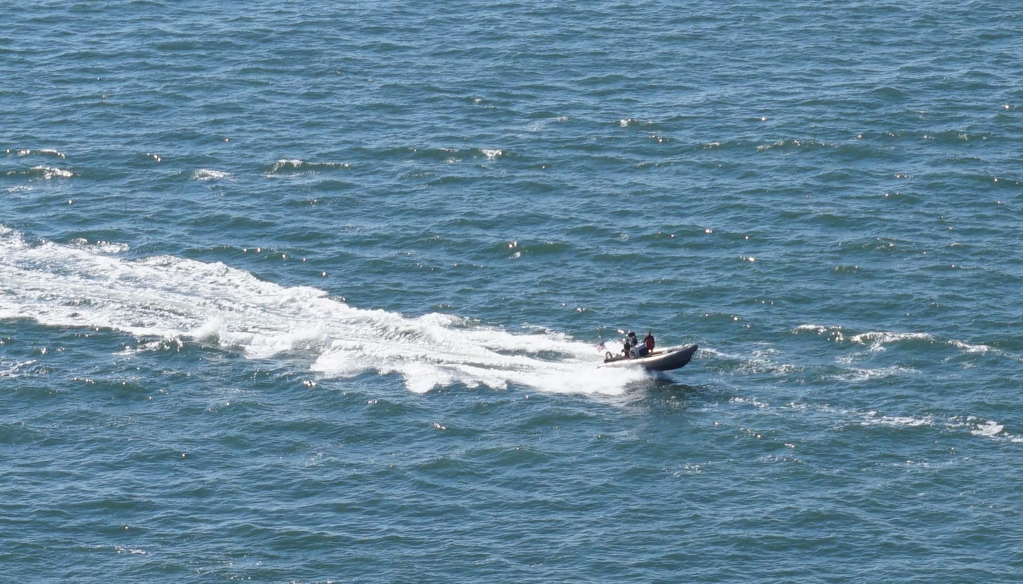 Rubber Coast Guard boat