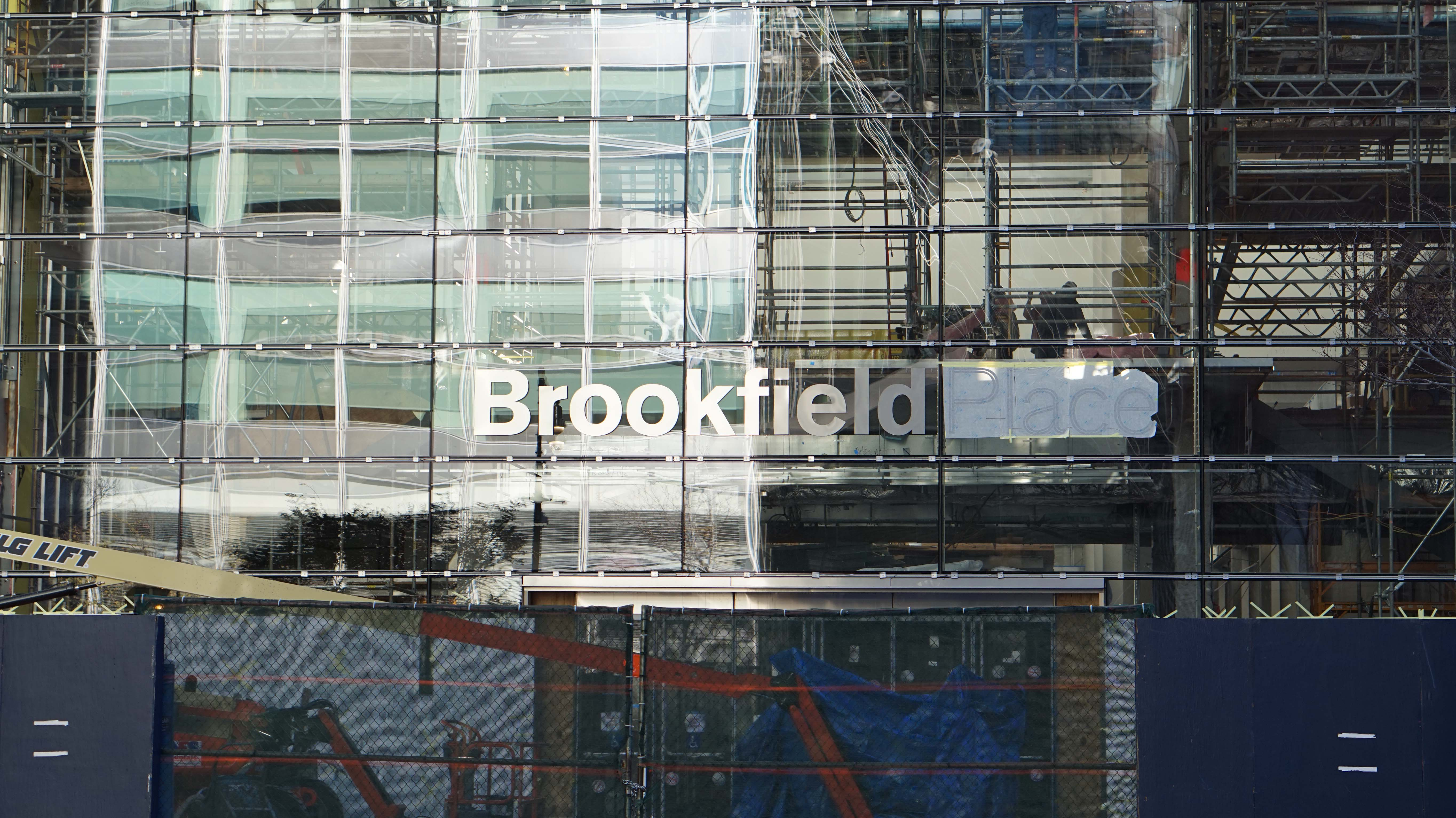 Brookfield Place sign Vesey