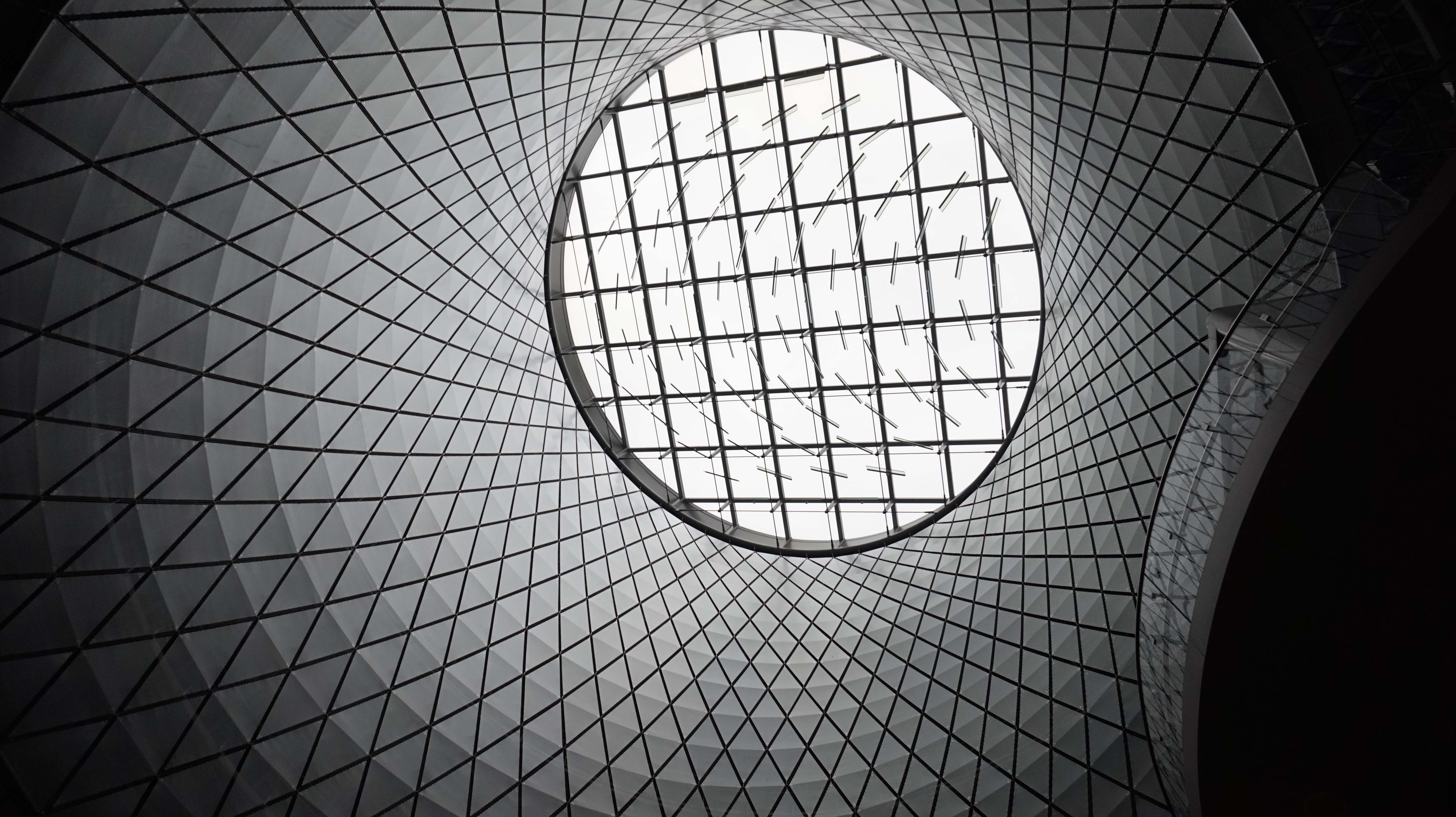 Fulton Station looking up