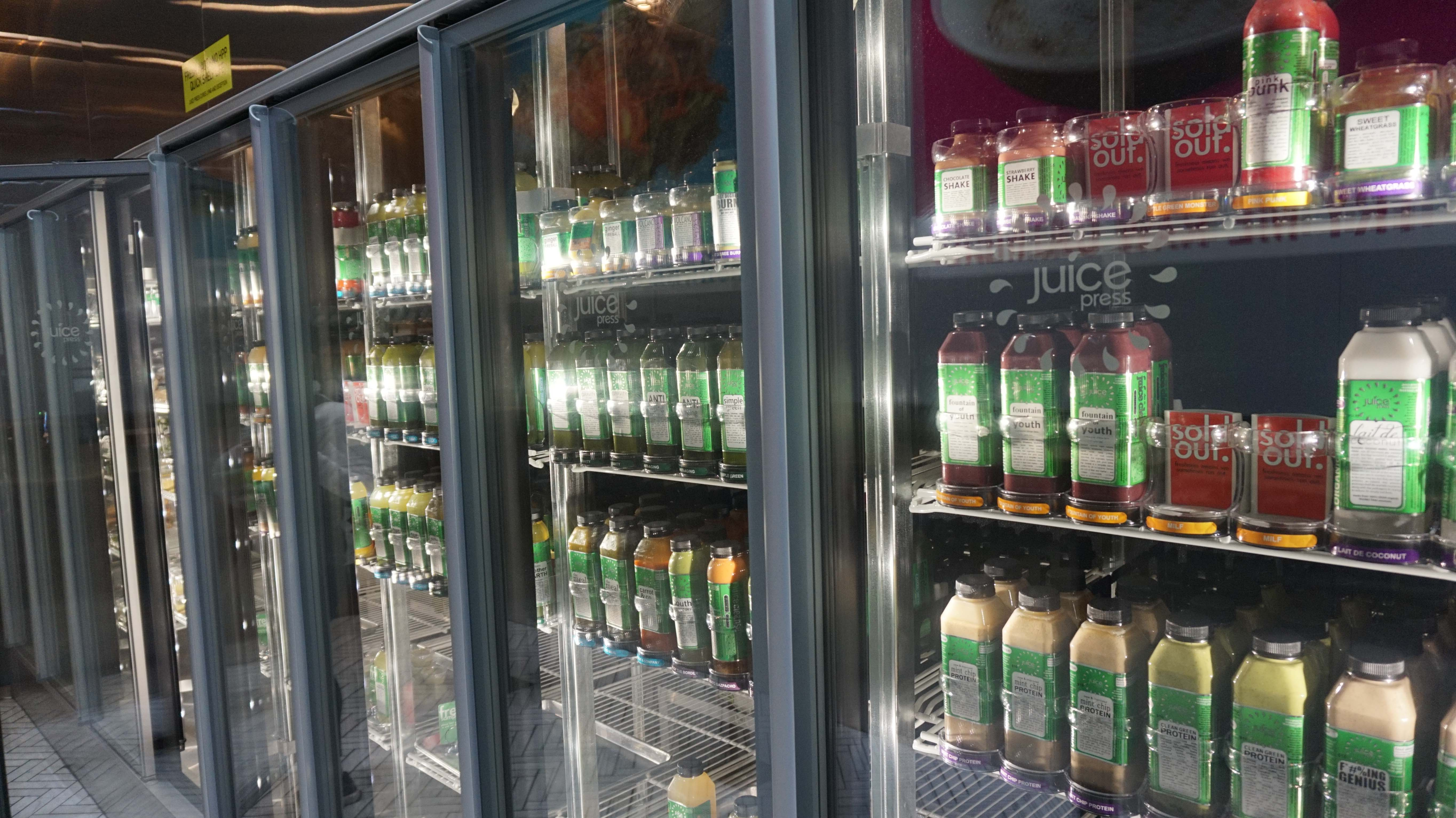 Organic juice frig