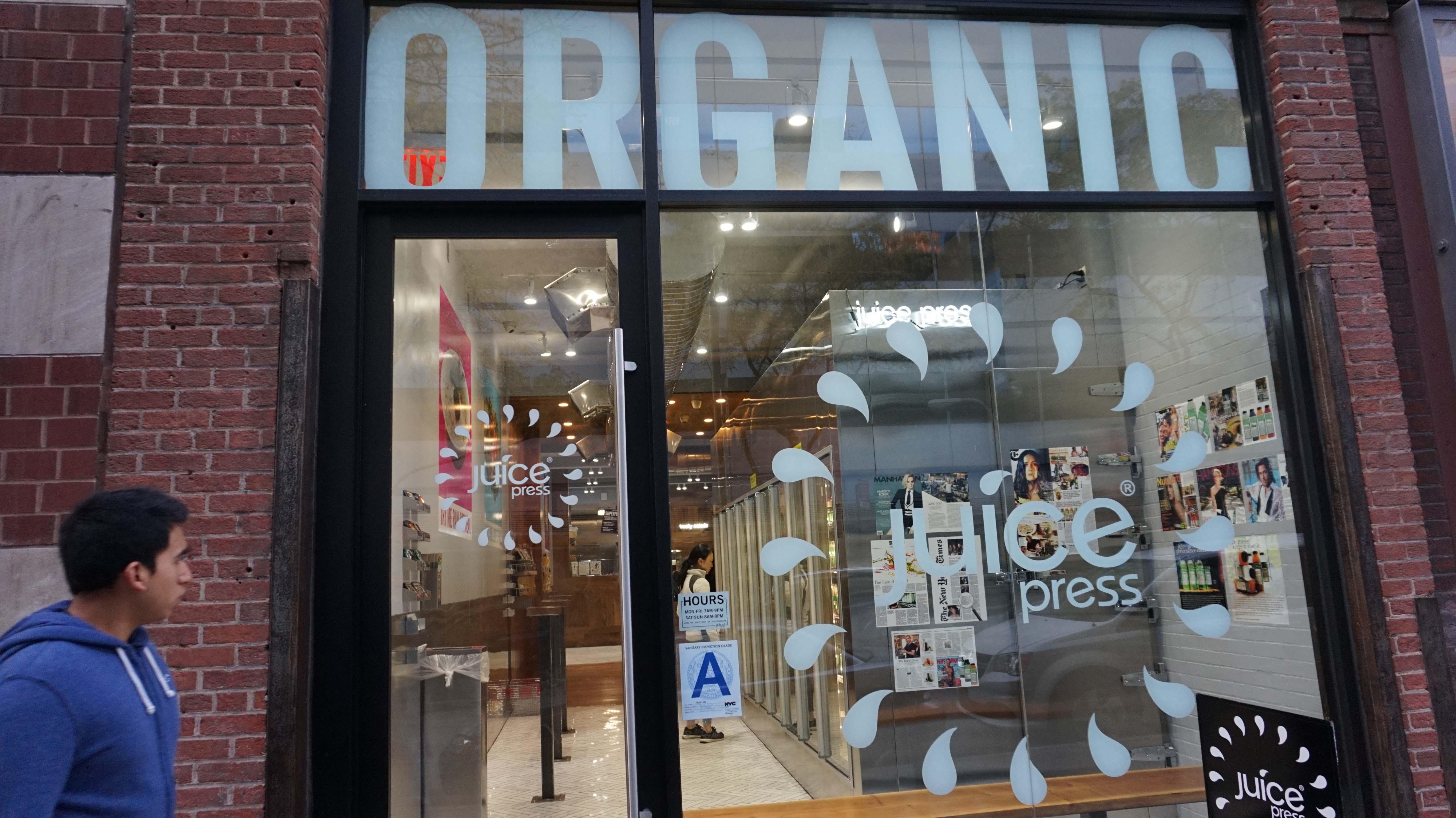 Organic outside Murray Street