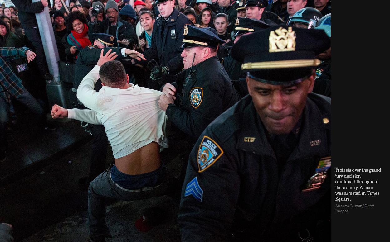 Protestor Times Square
