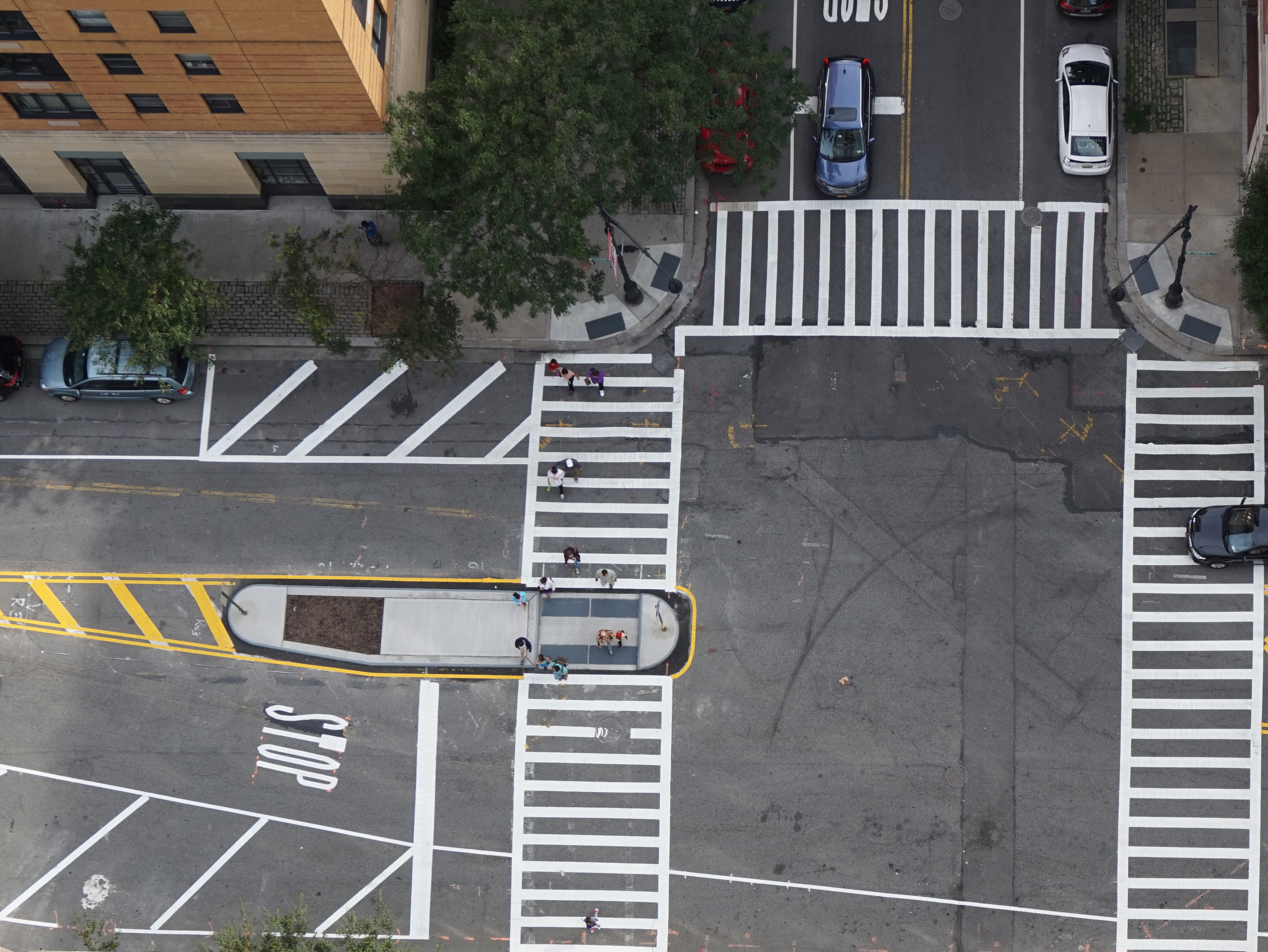 Safe crossings at Greer pedestrian plaza