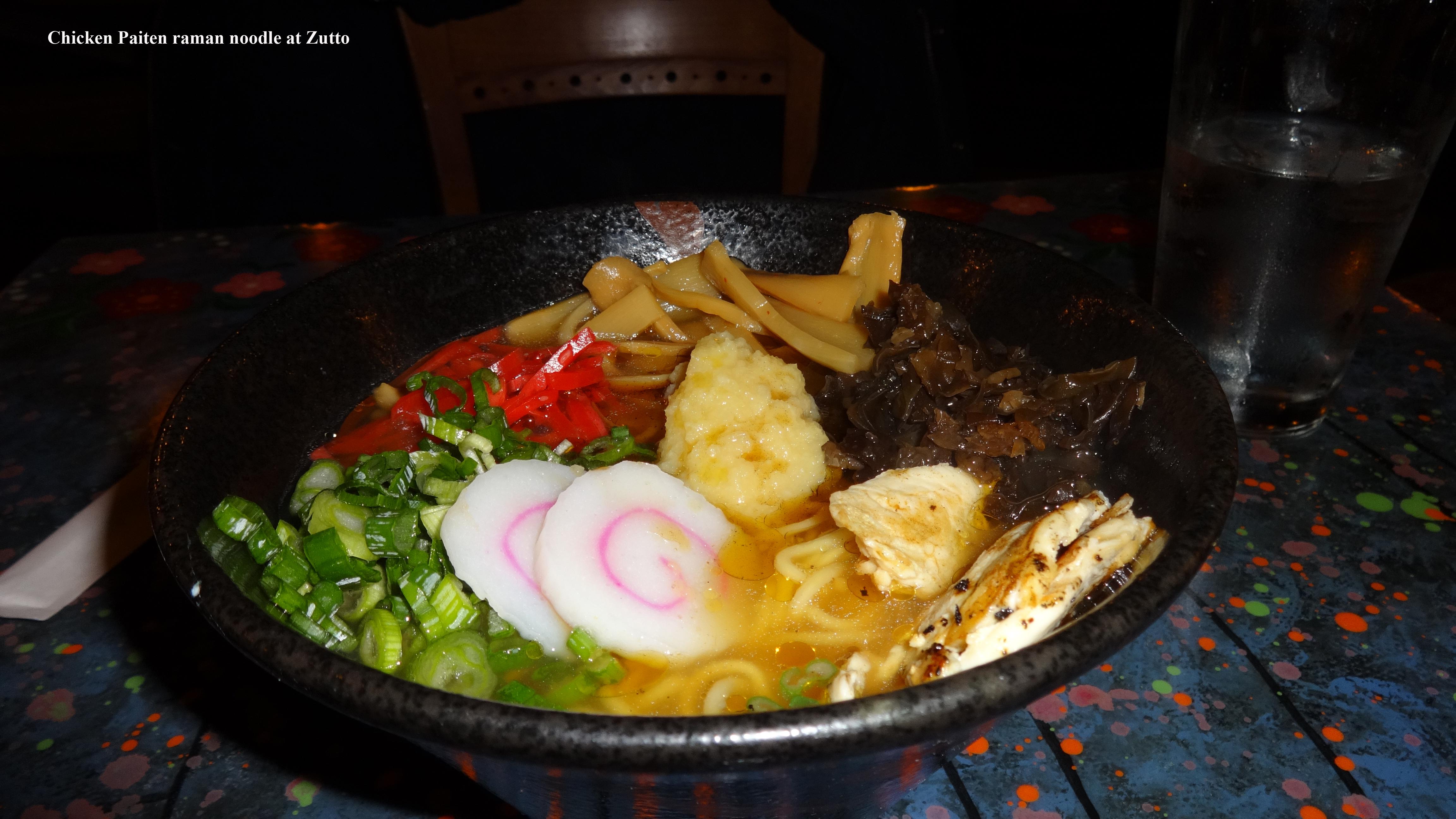 Zutto chicken ramen noodle