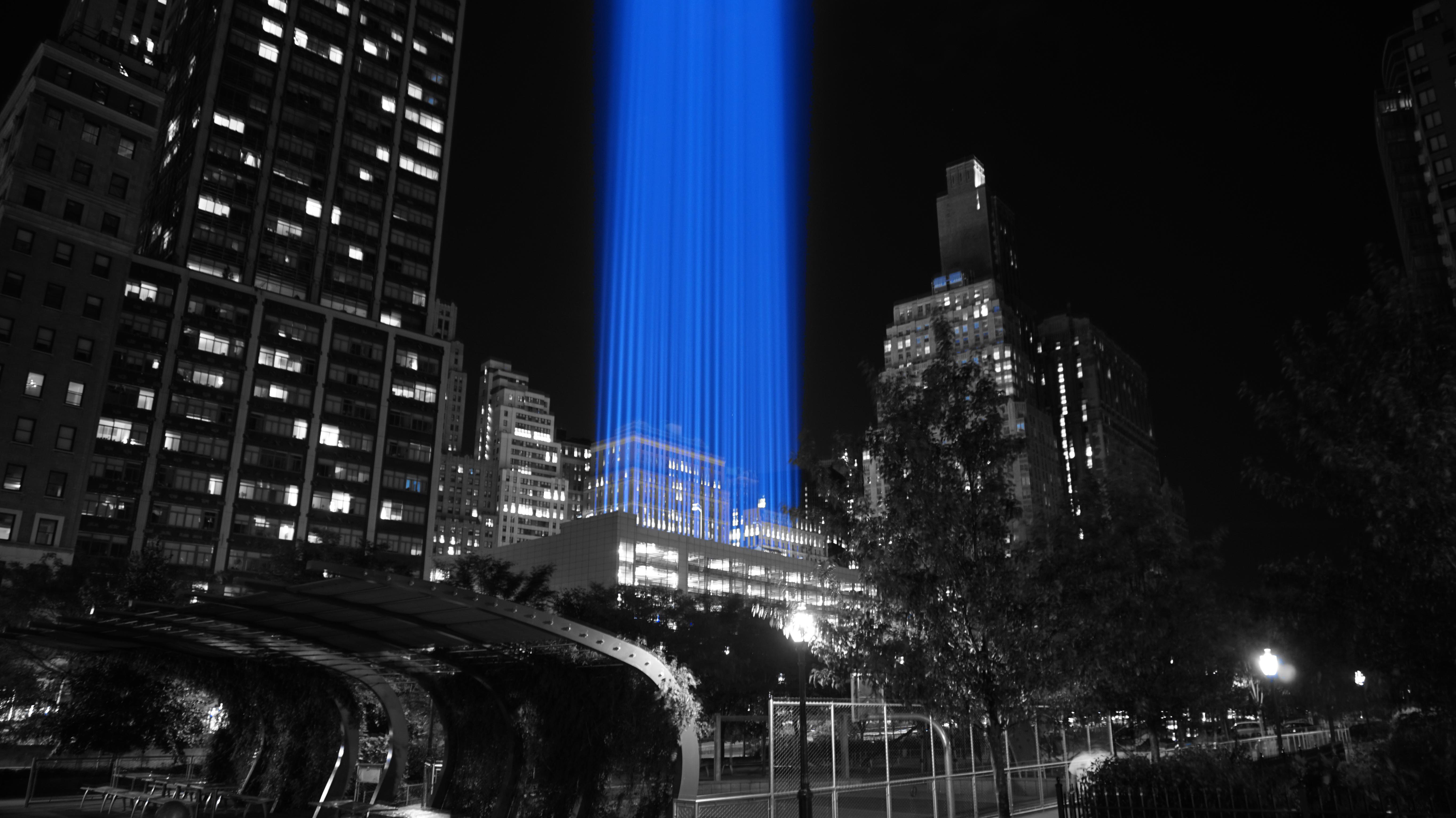 911 spotlights from rector park