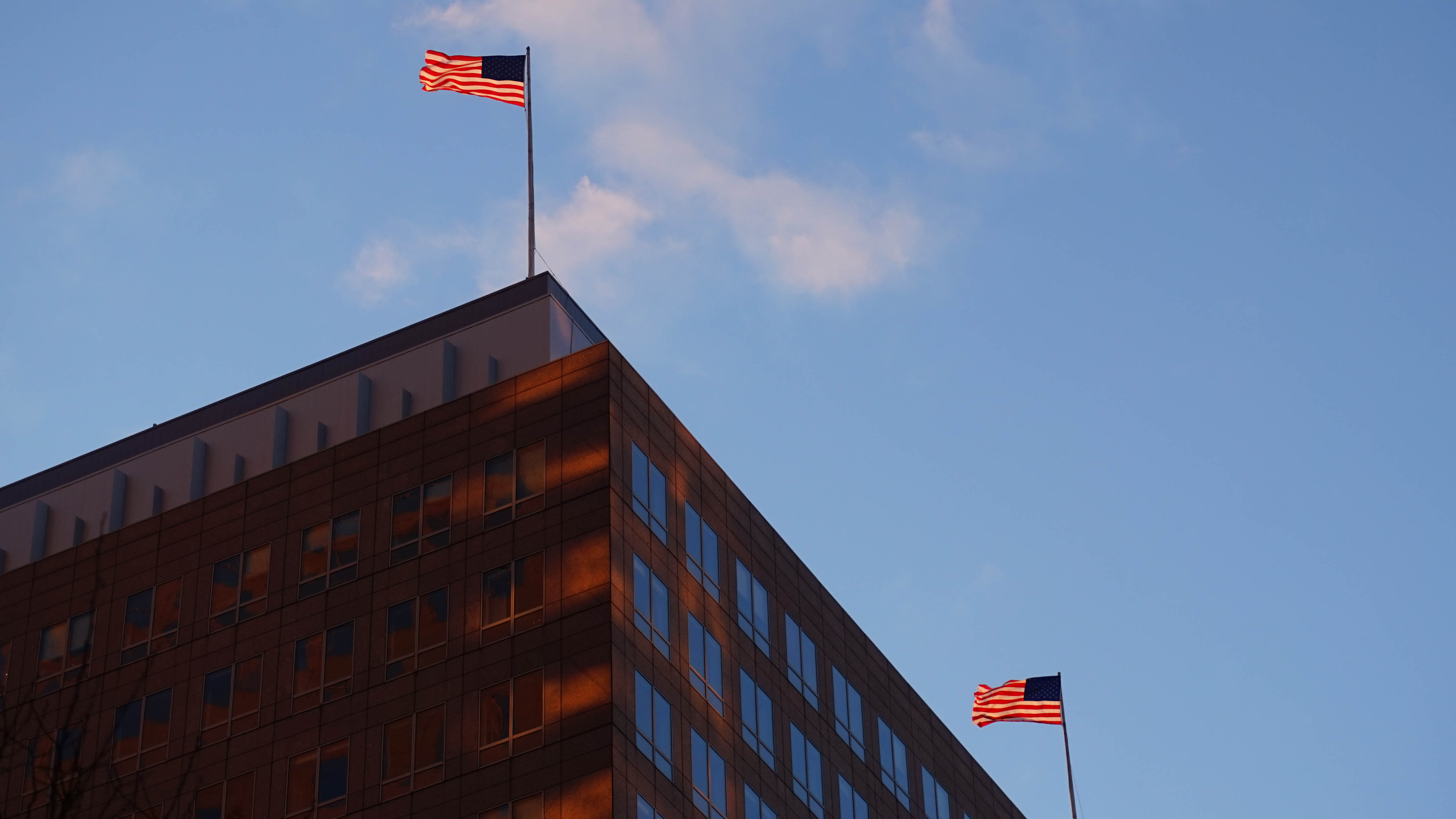 American flags on NYMEX 12-30-2014