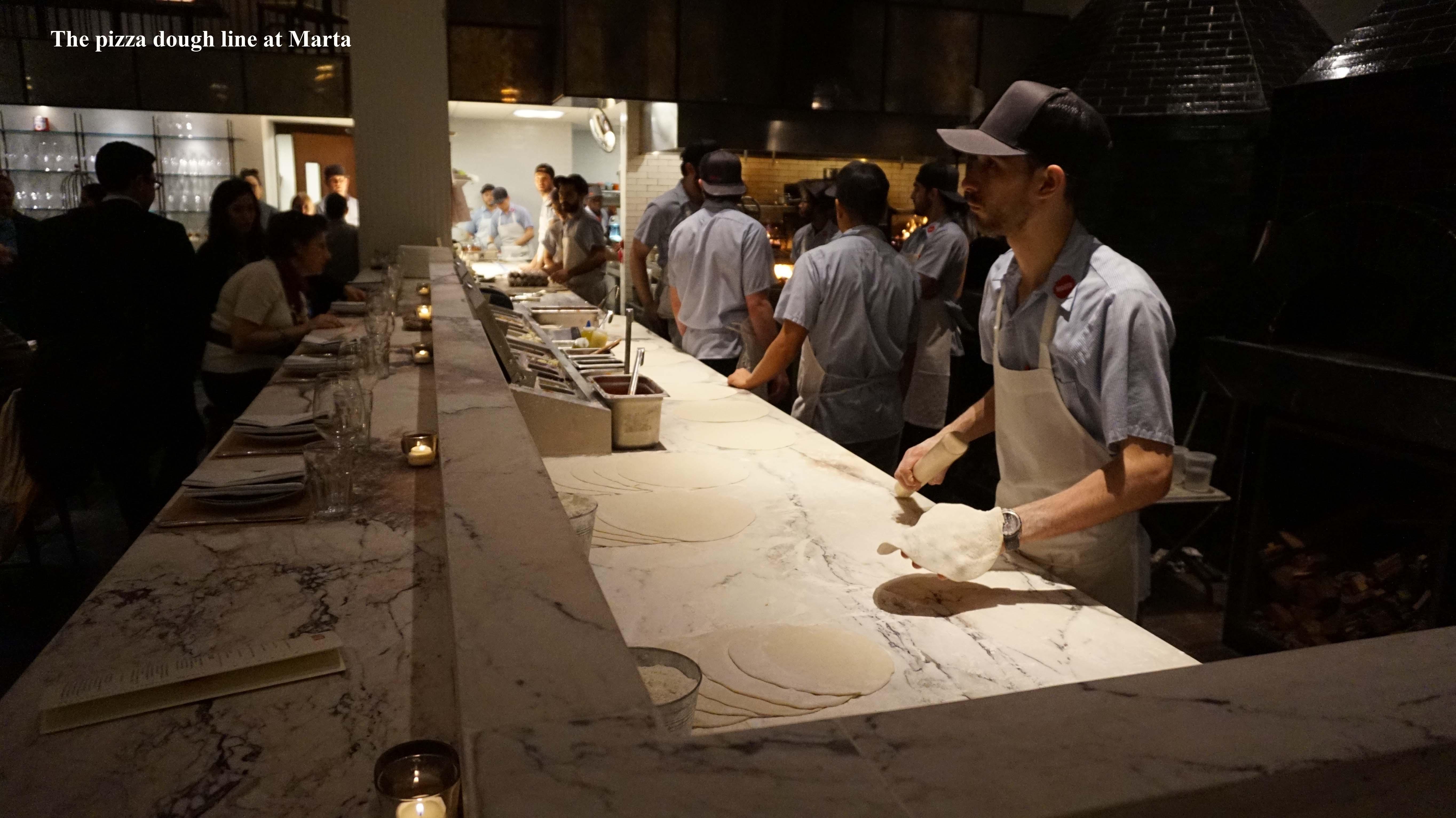 Marta pizza dough line