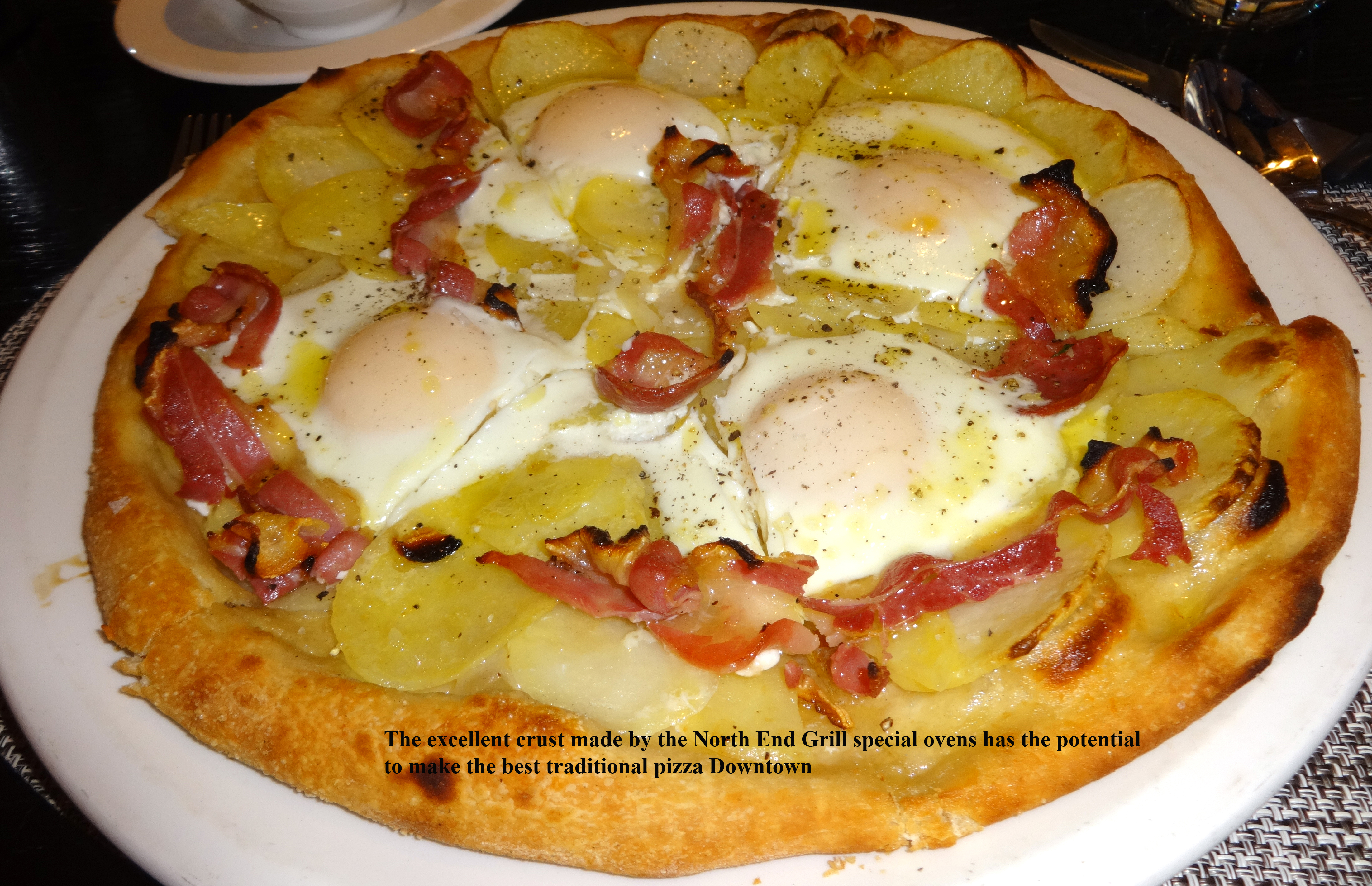 North End Grill breakfast pizza