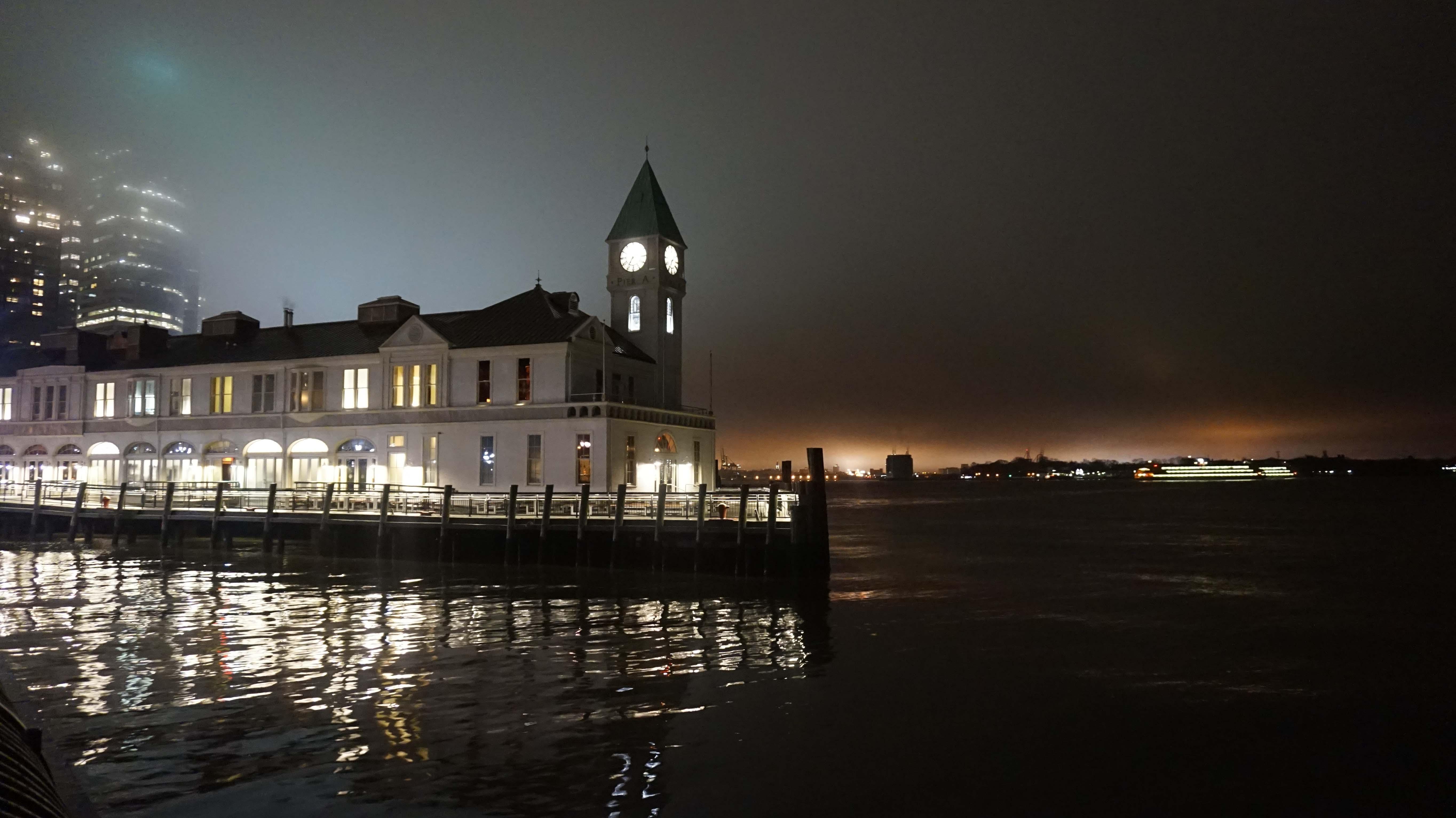 Pier A in fog 12-24-2014