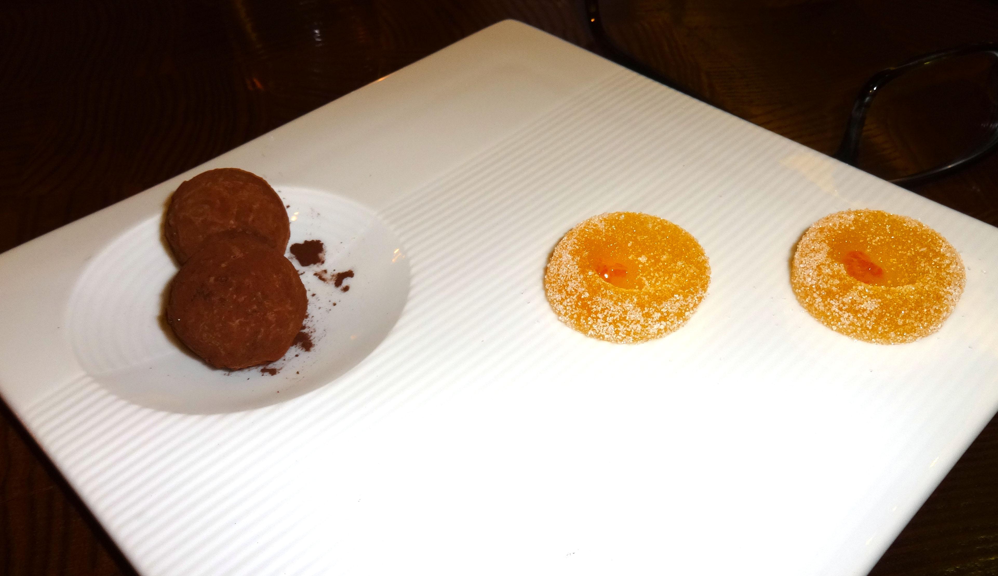 Complimentary after dinner chocolates Batard