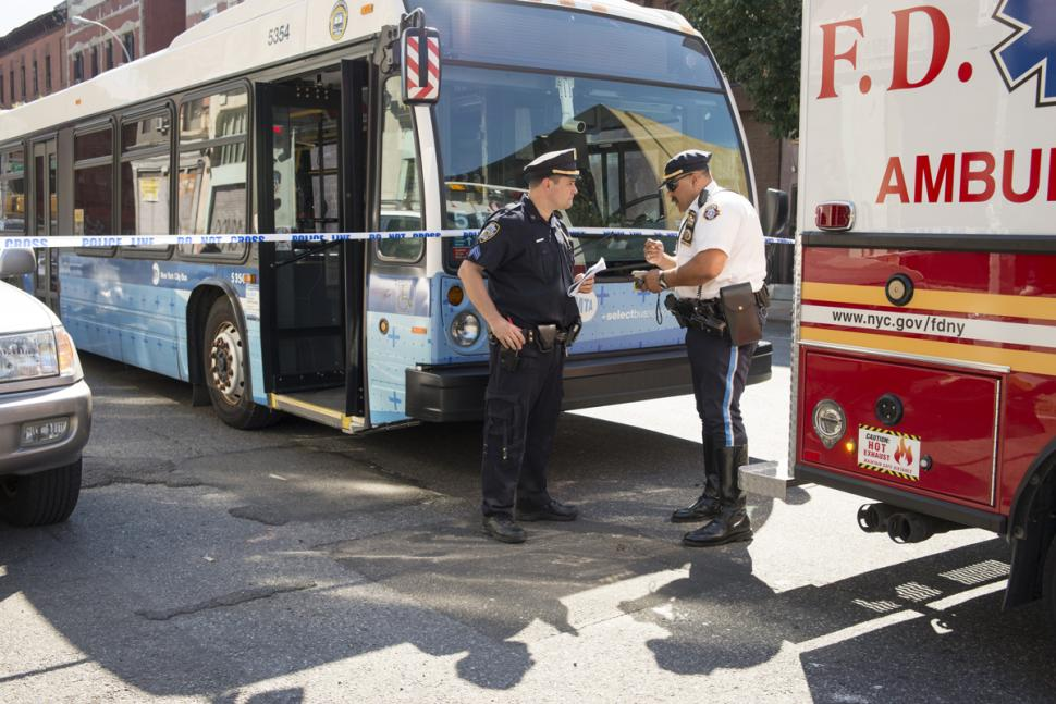 MTA bus hits woman