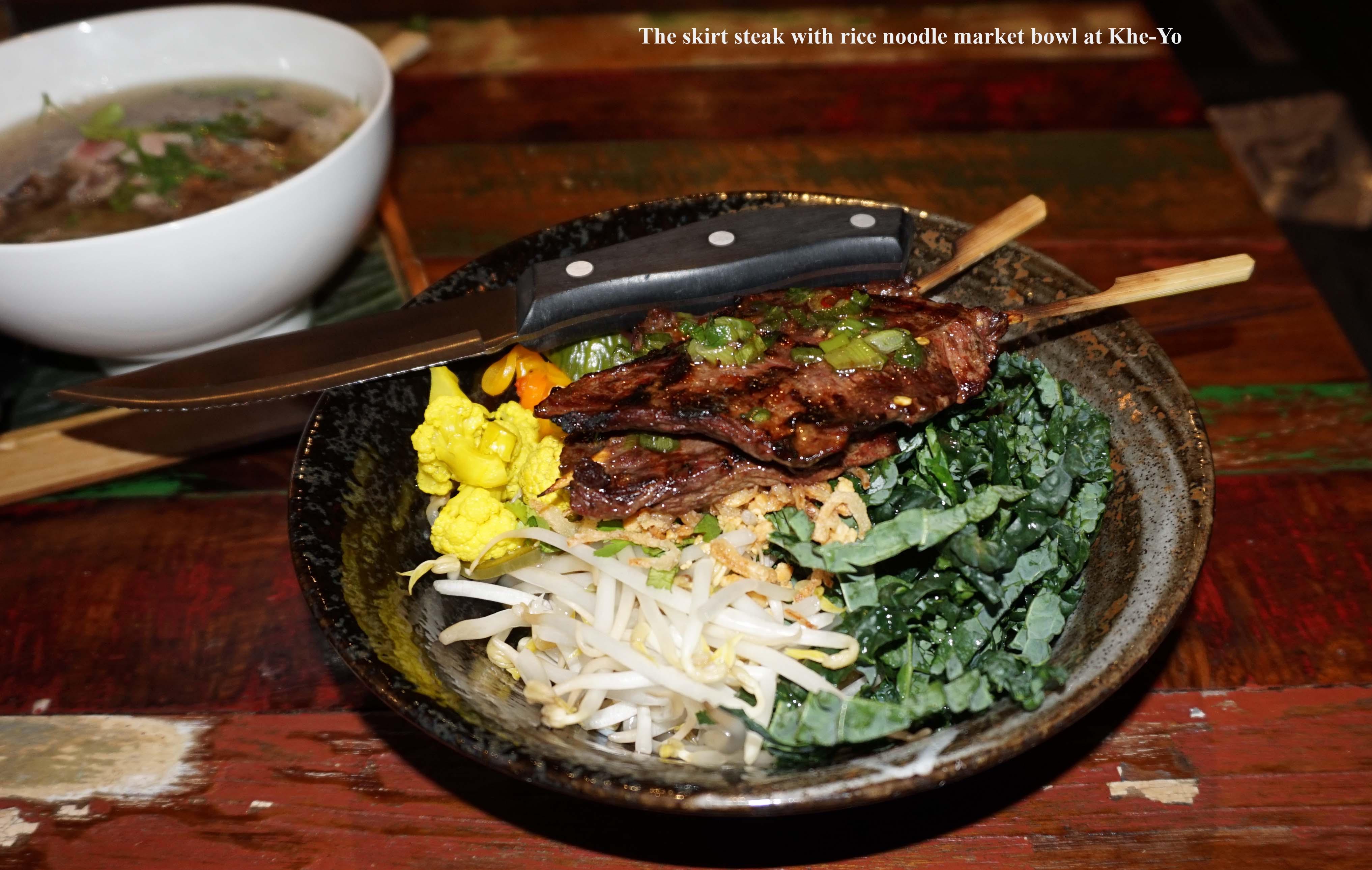 Skirt steak bowl Khe Yo