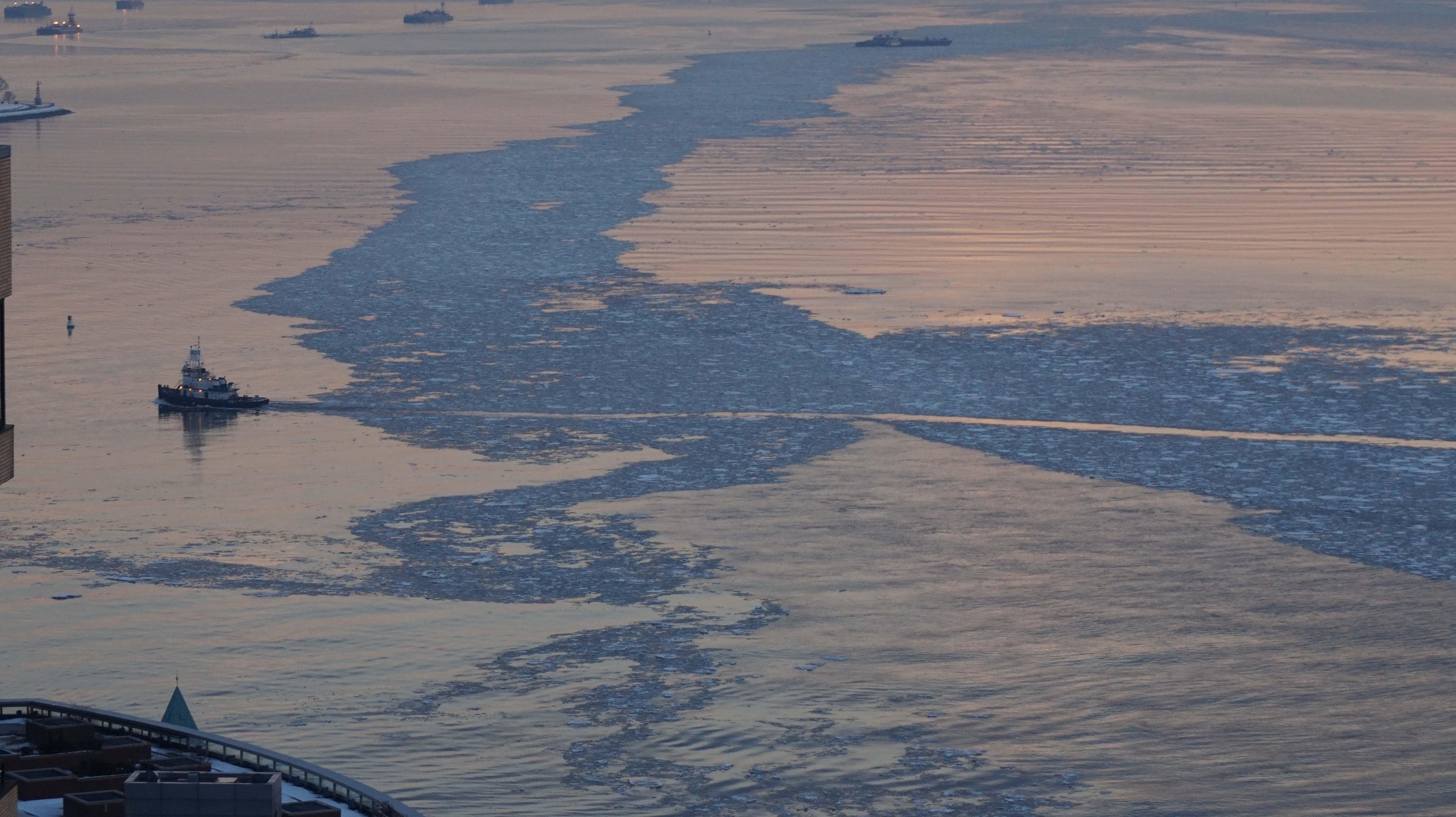Tugboat in Hudson ice 2-22-2015