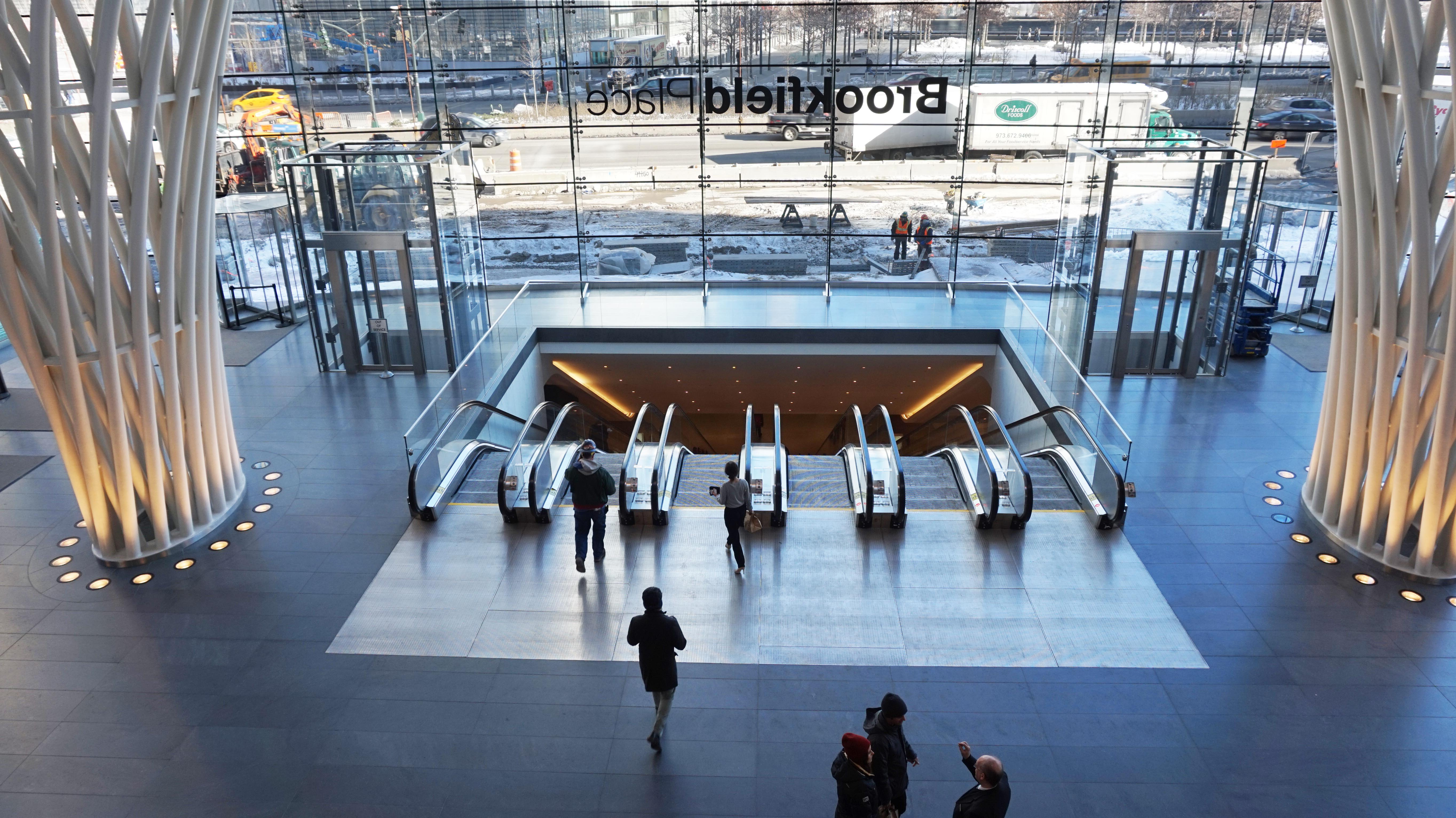 WTC to Brookfield tunnel escalator from balcony