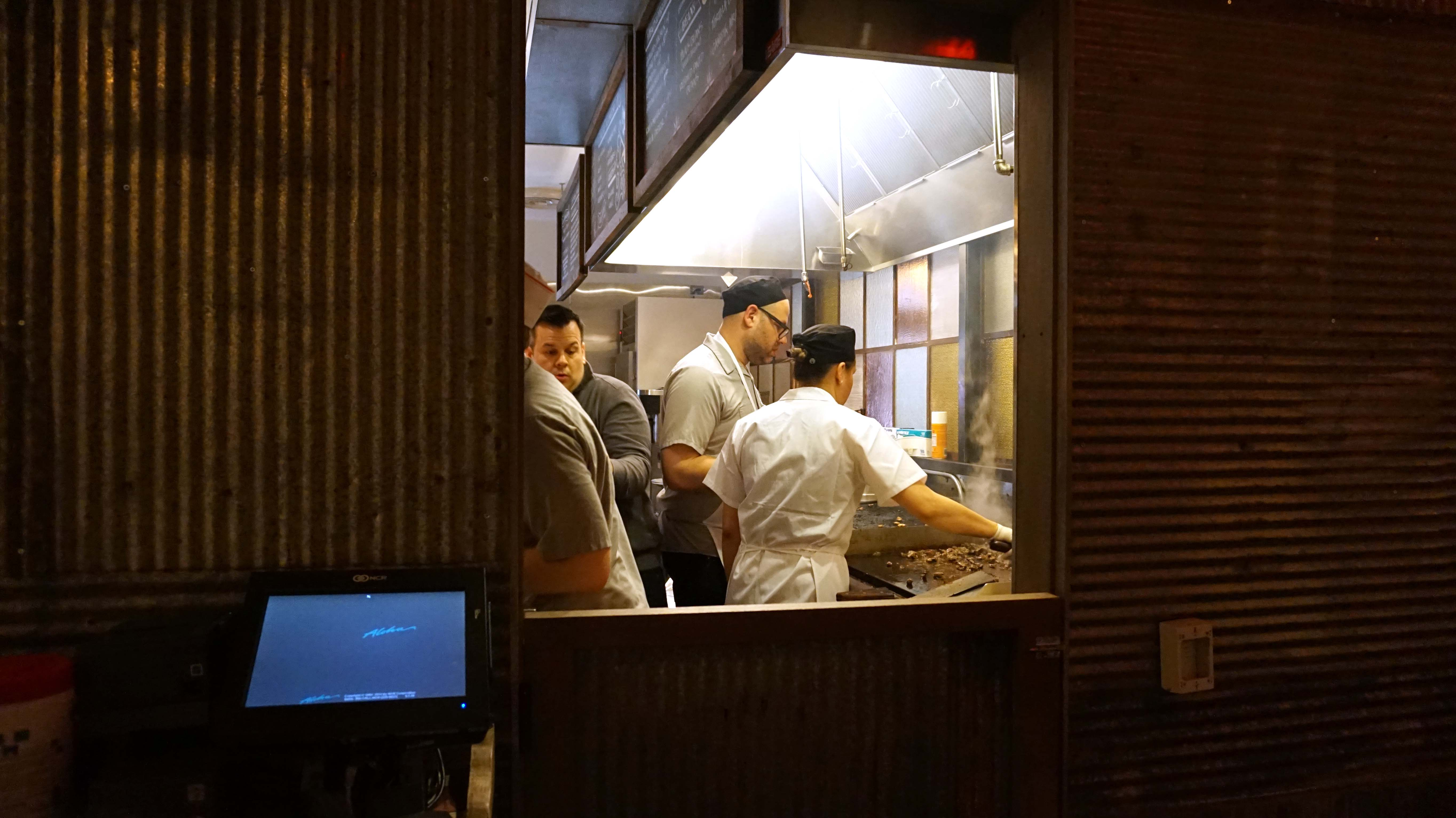 El Vez burrito bar cooks and manager 4-17-2015