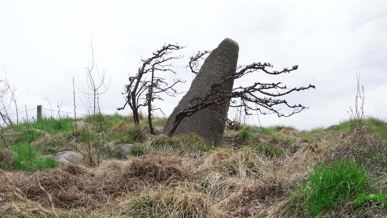 Irish Memorial stone monument on hill close