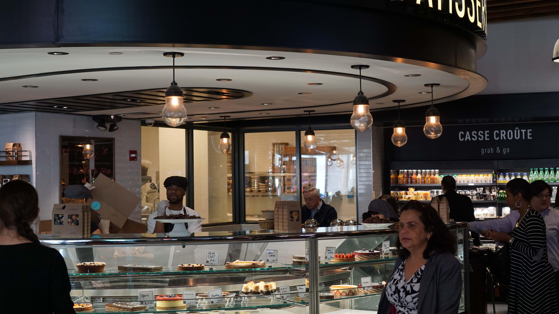 Le District ice cream counter wide