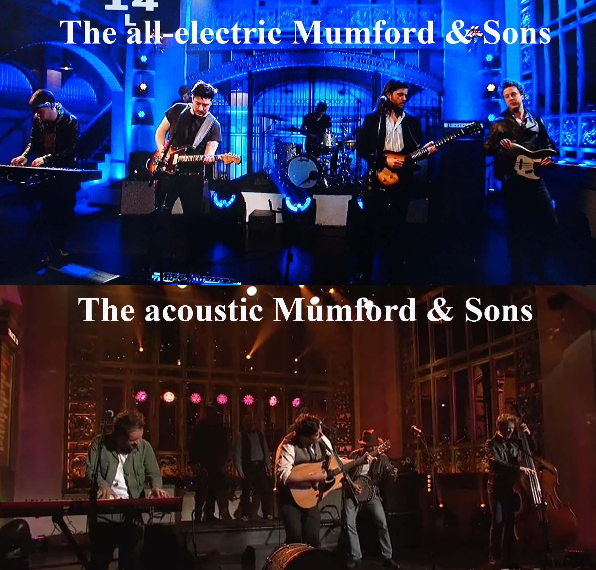 Mumford & Sons electric