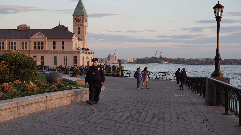 Police patrolling esplanade