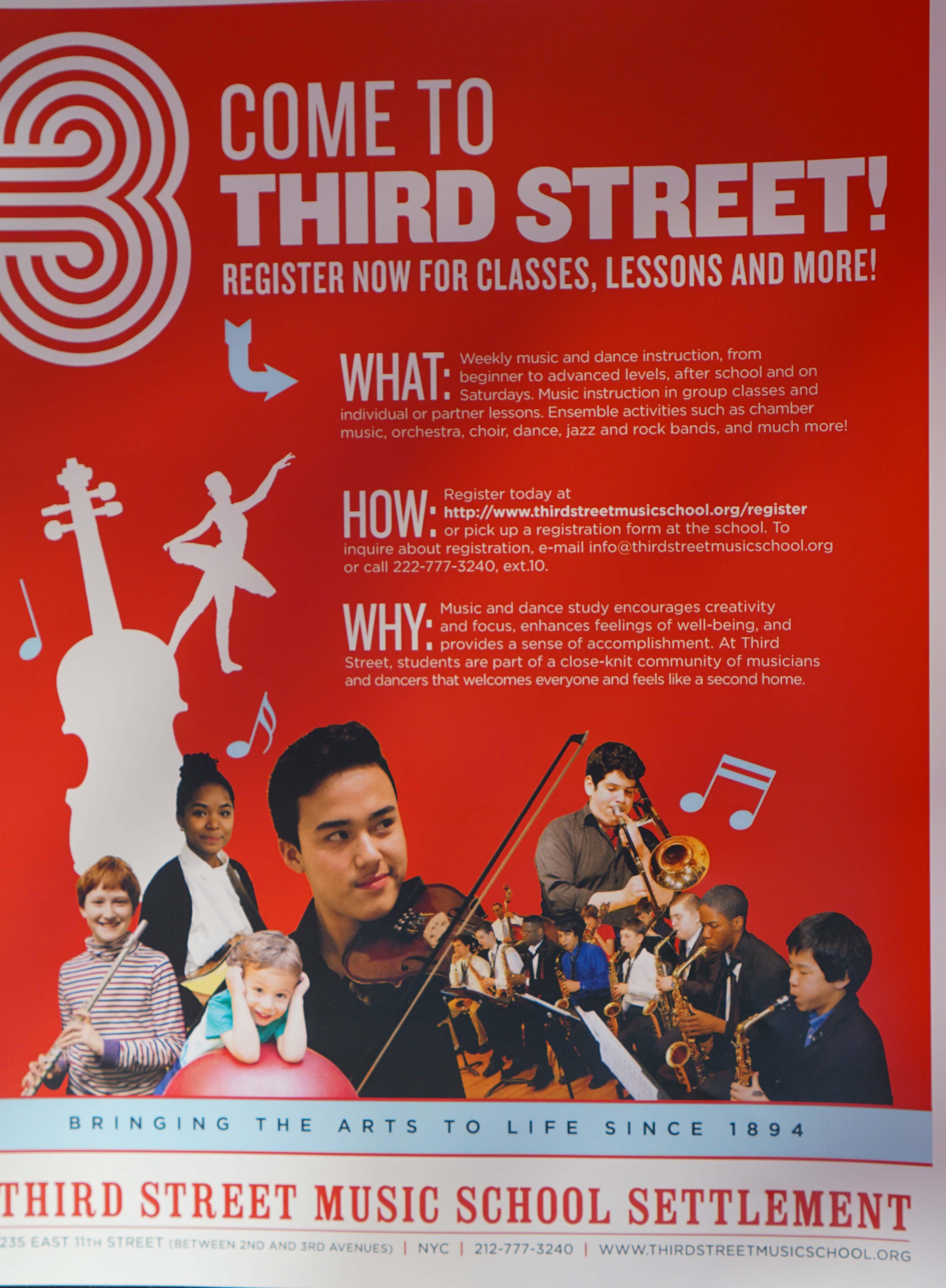 Third Street Music School flier