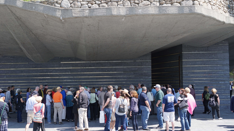 Crowd Irish Memorial lower level