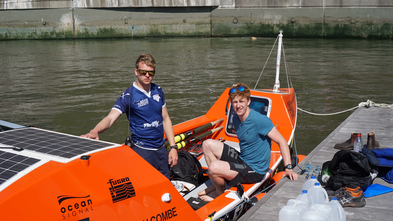 Transatlantic rowers
