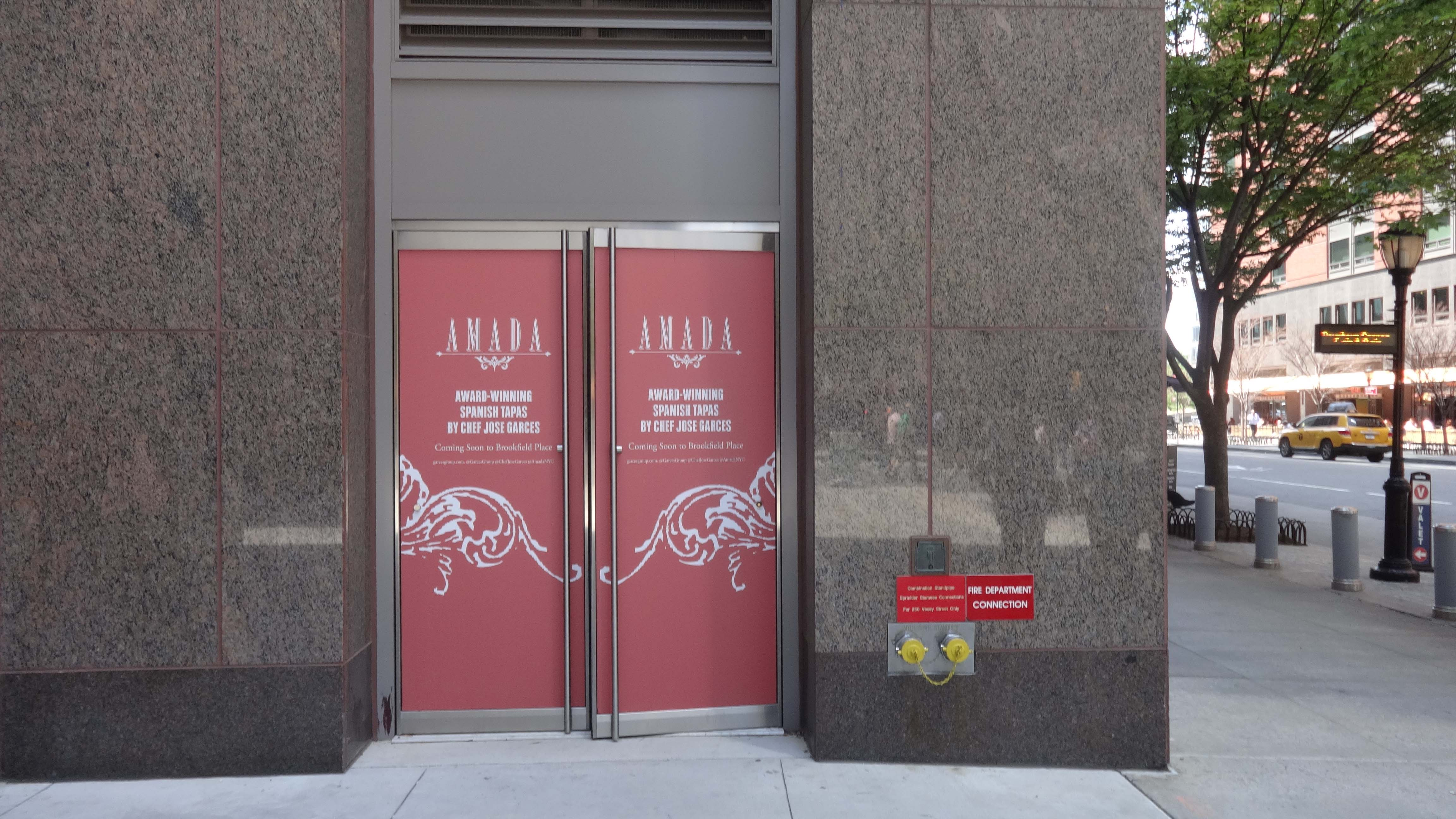 Amada doors outside 6-10-2015