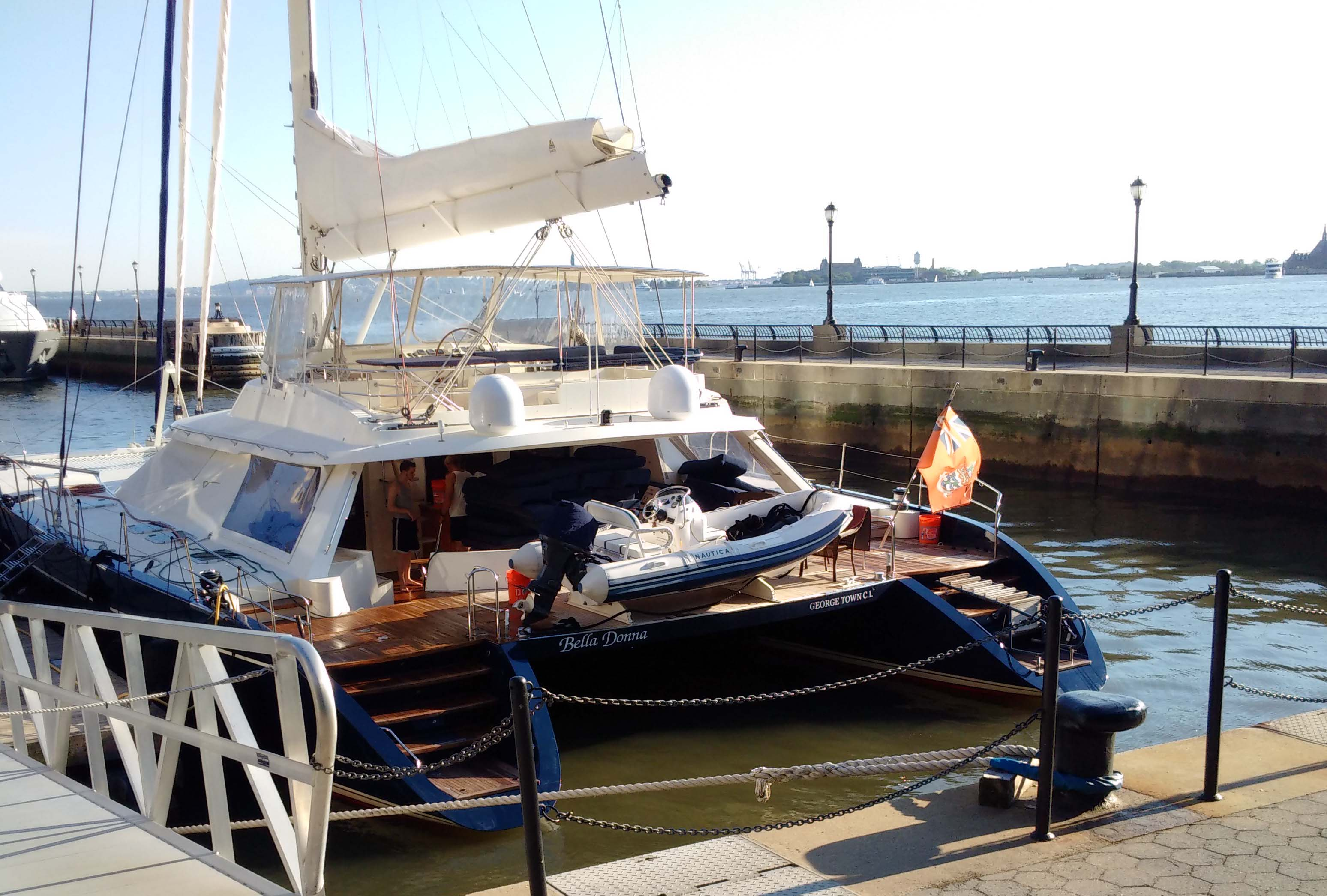 Bella Donna catamaran North Cove Marina