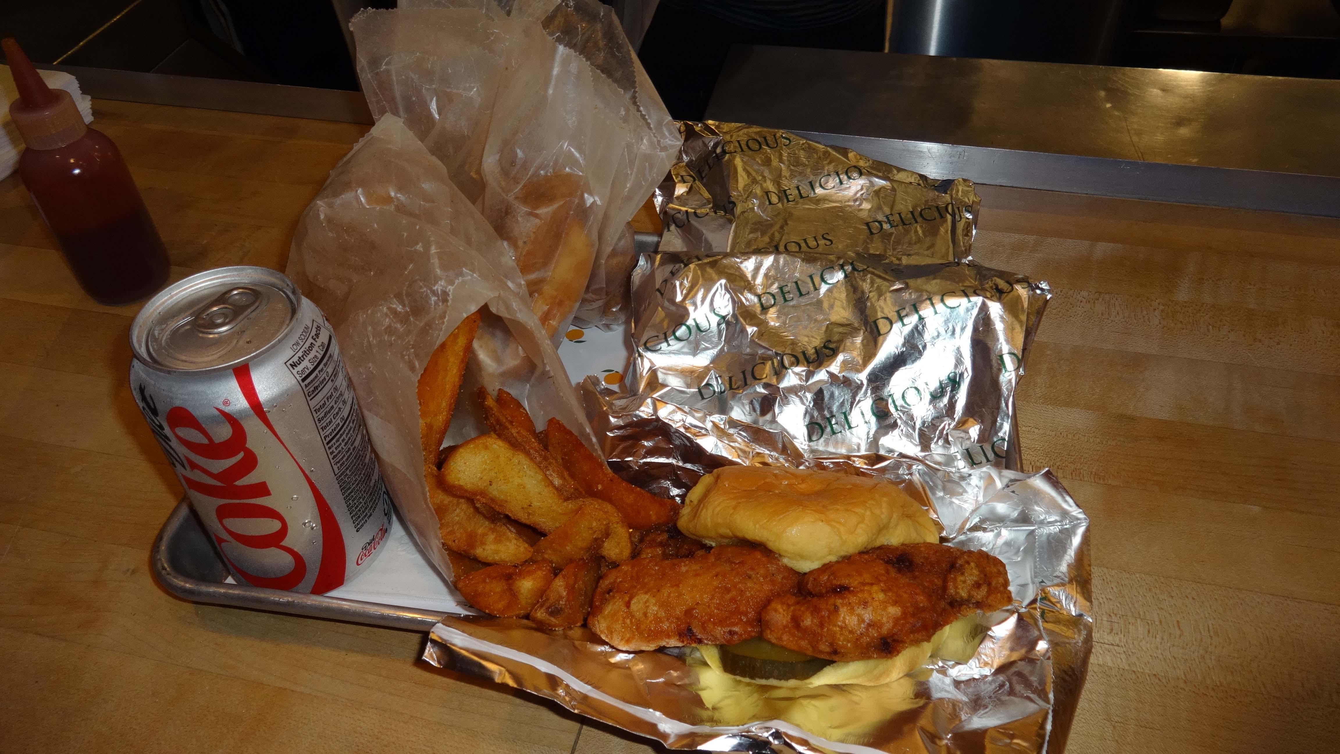 Fuku fired chicken sandwich