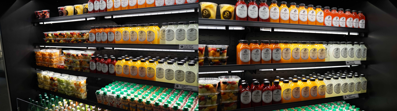 Le District cut fruit and fresh juices