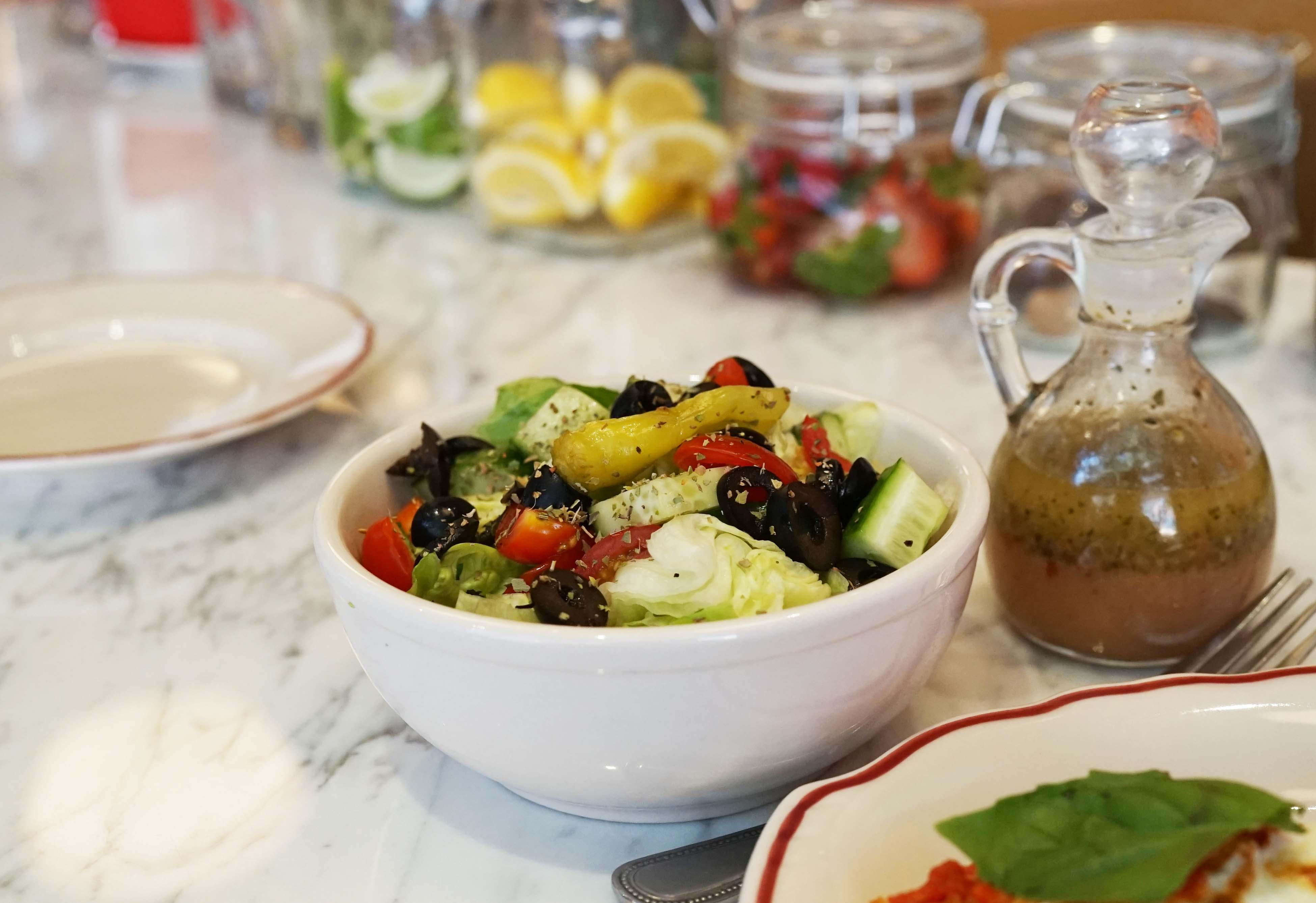 Parm chicken platter salad