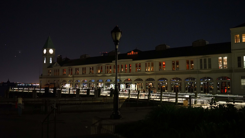 Pier A south facade night