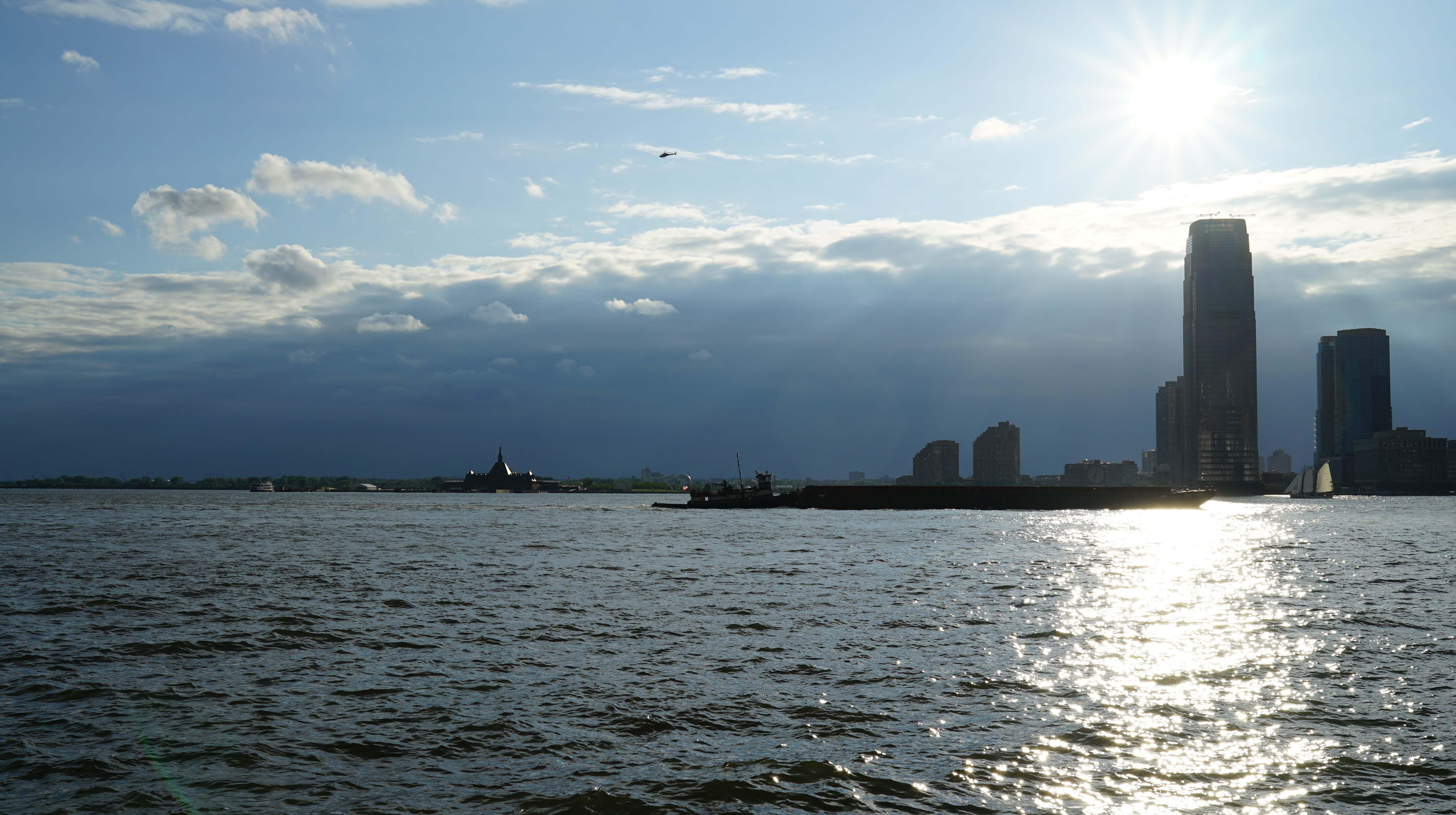 Sunset water level Jersey City 6-28-2015