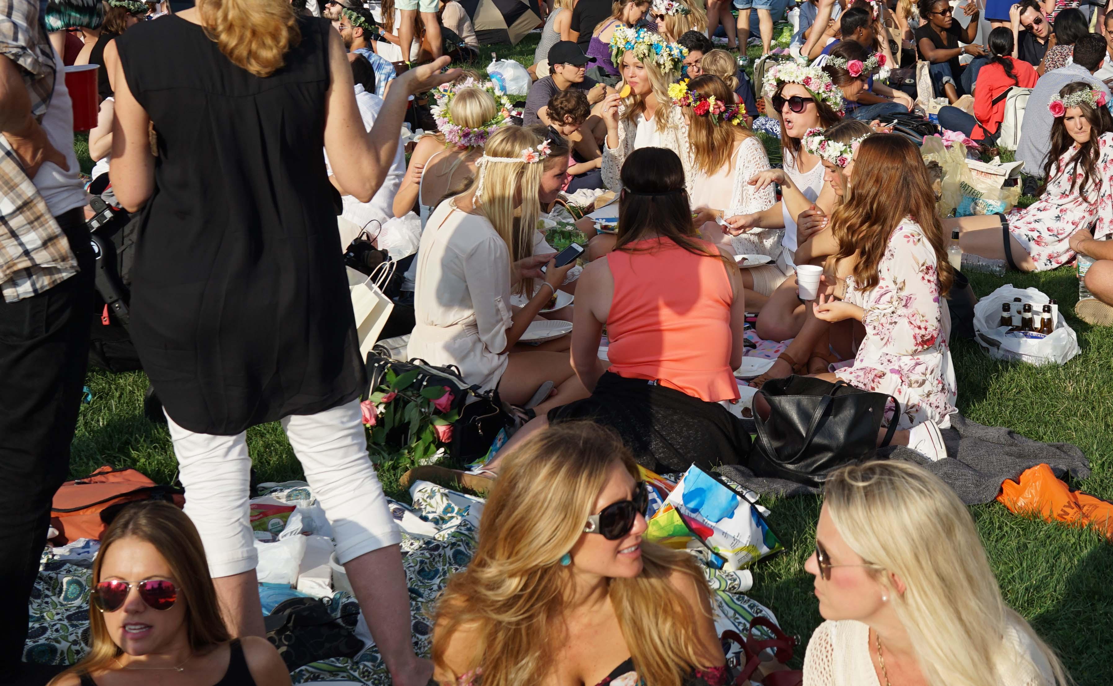 Swedish festival 3 girls on grass