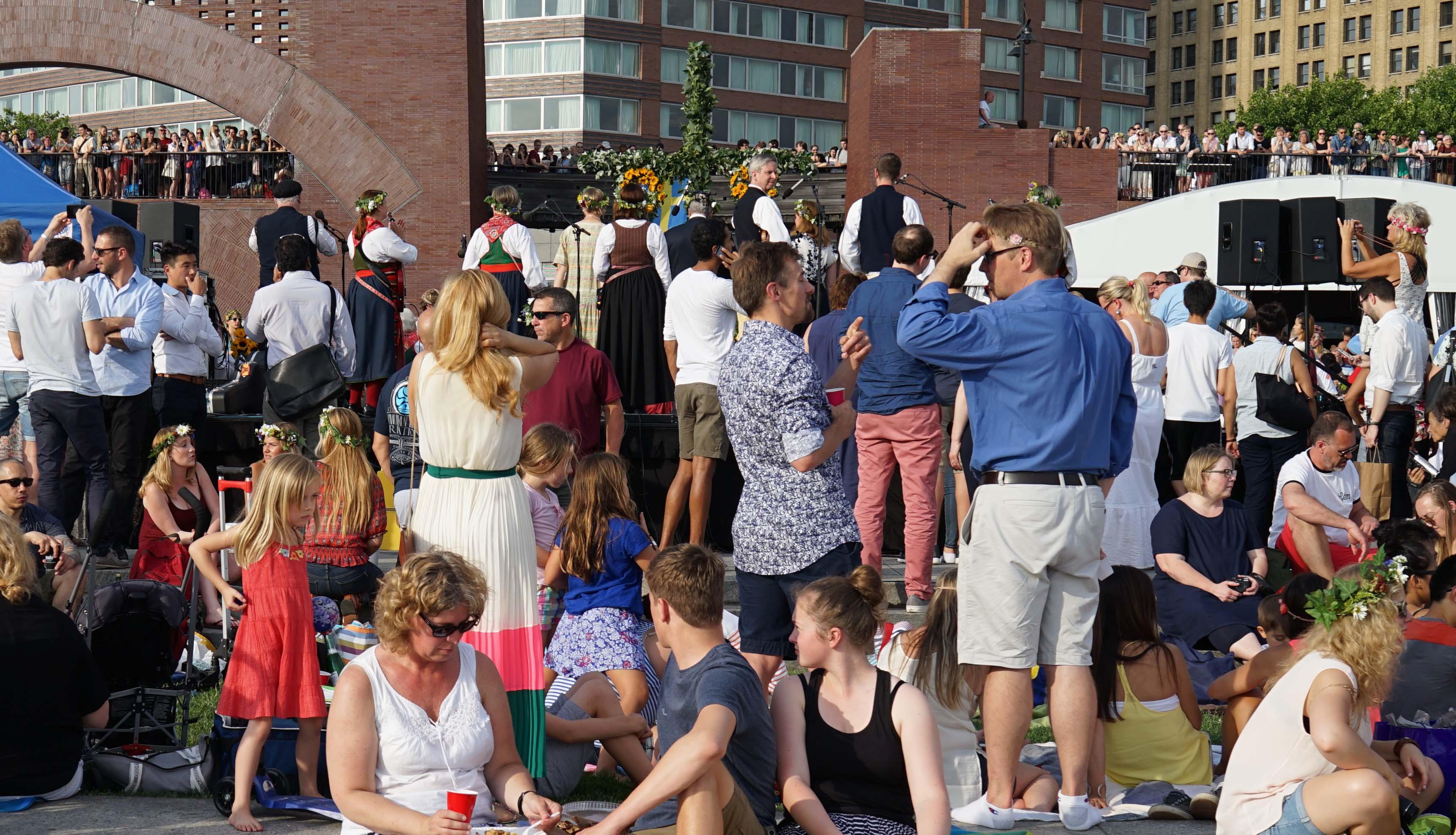 Swedish festival band overpass walkway