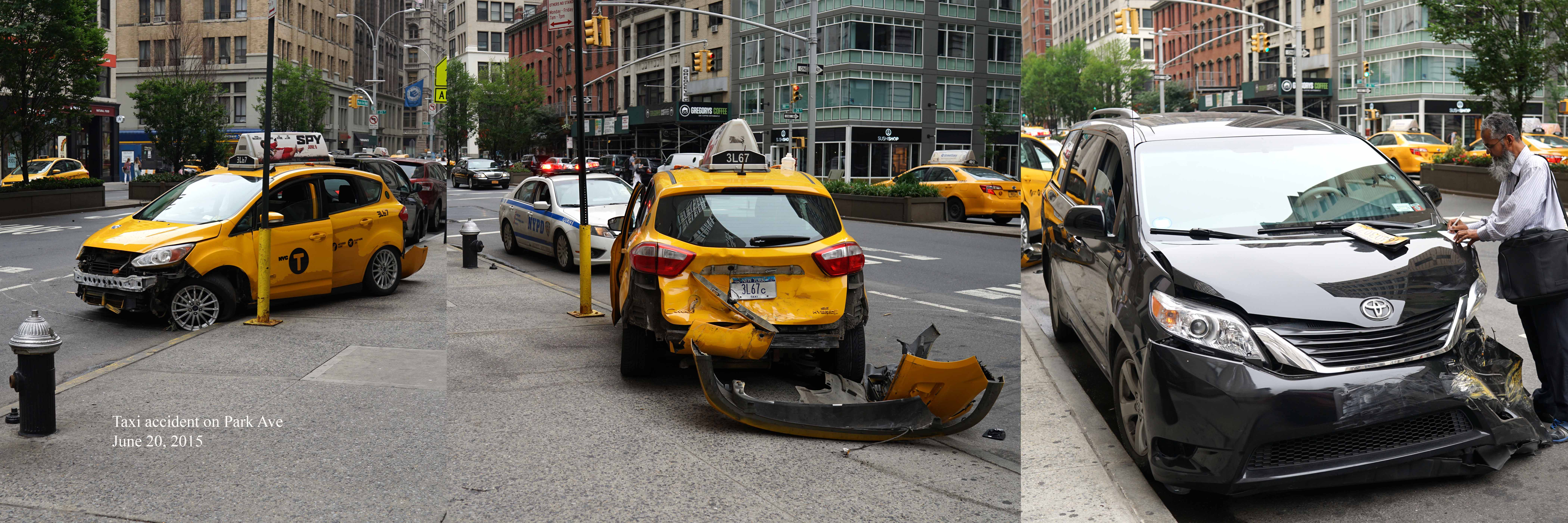 Taxi accident on Park Ave 6-20-2015
