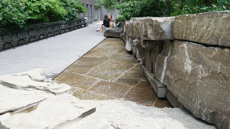 Tear drop park shallow stream