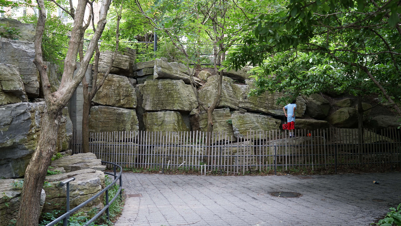 Tear drop park tunnel entrance